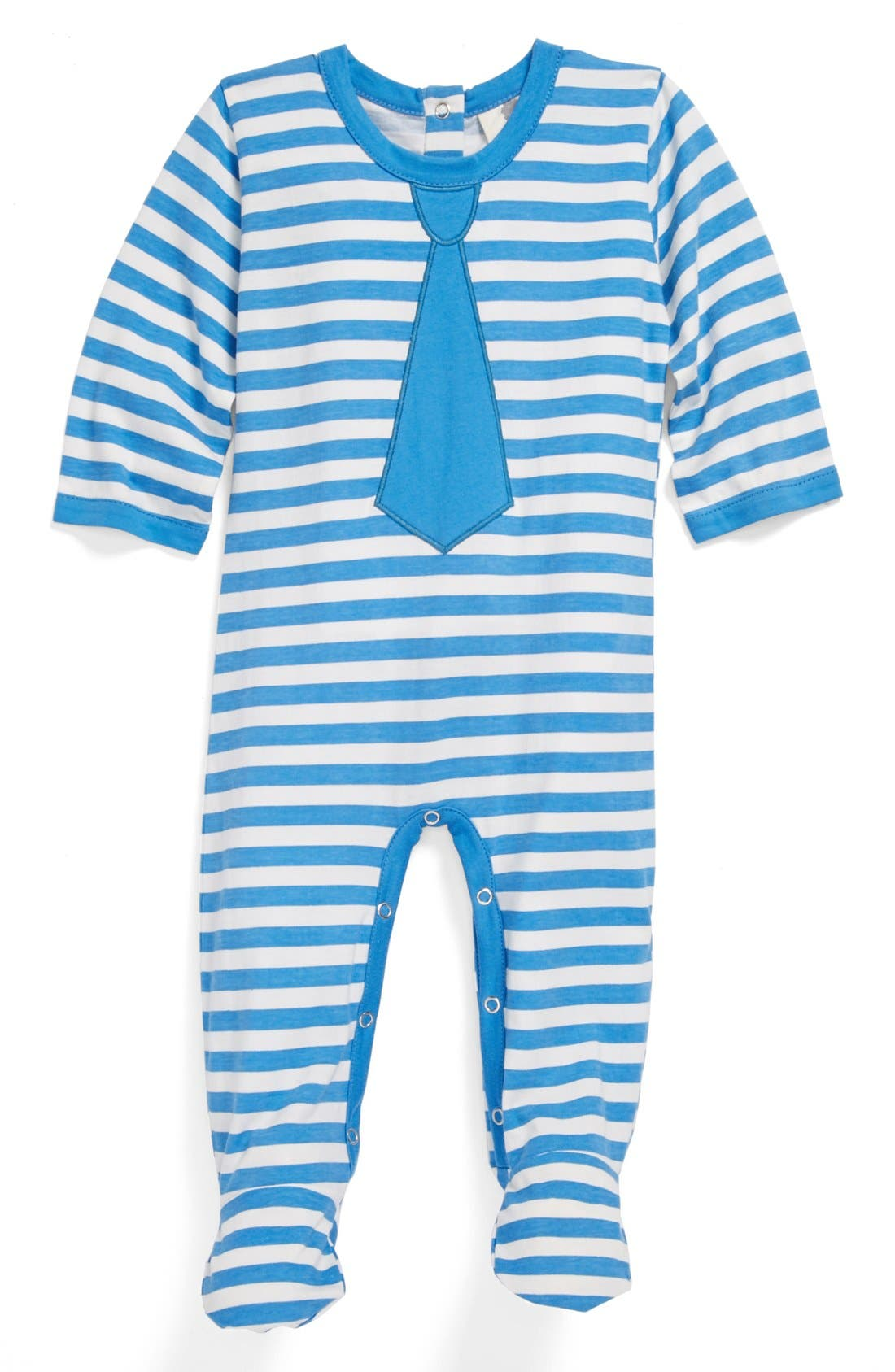 Alternate Image 1 Selected - Kate Quinn Organics Tie One Piece (Baby Boys)