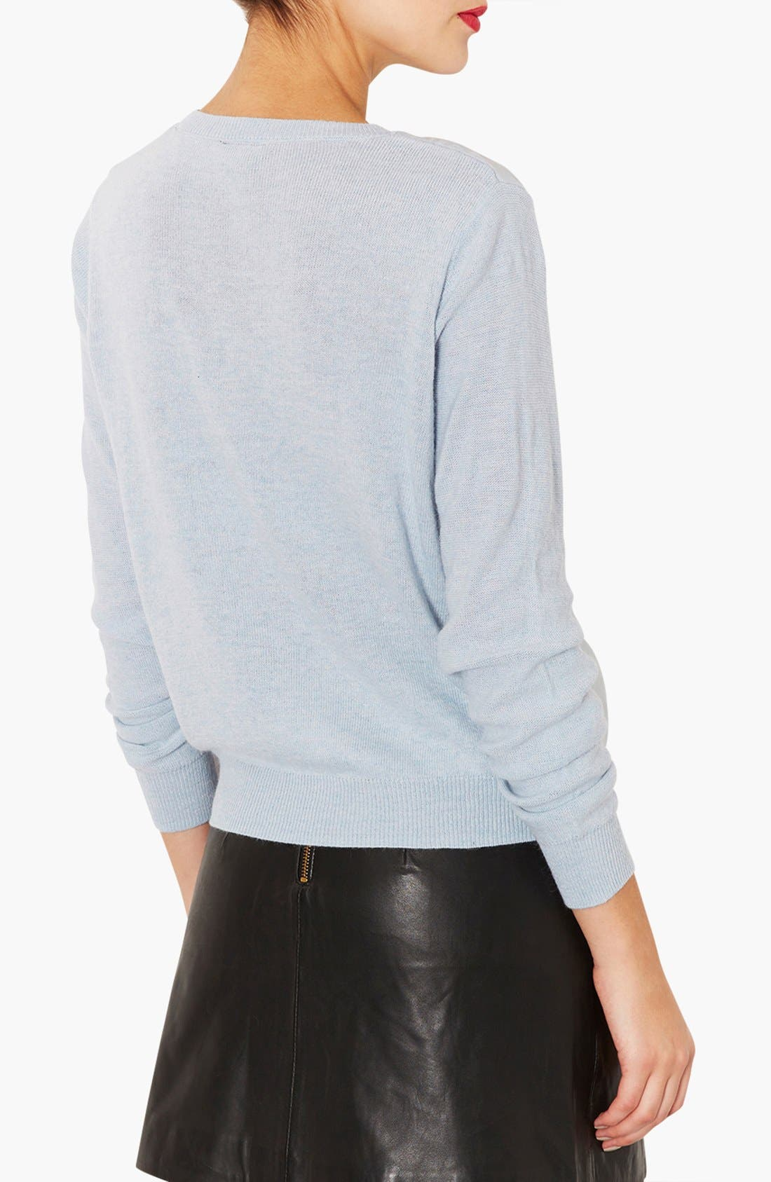 Alternate Image 2  - Topshop Organza Front Sweater