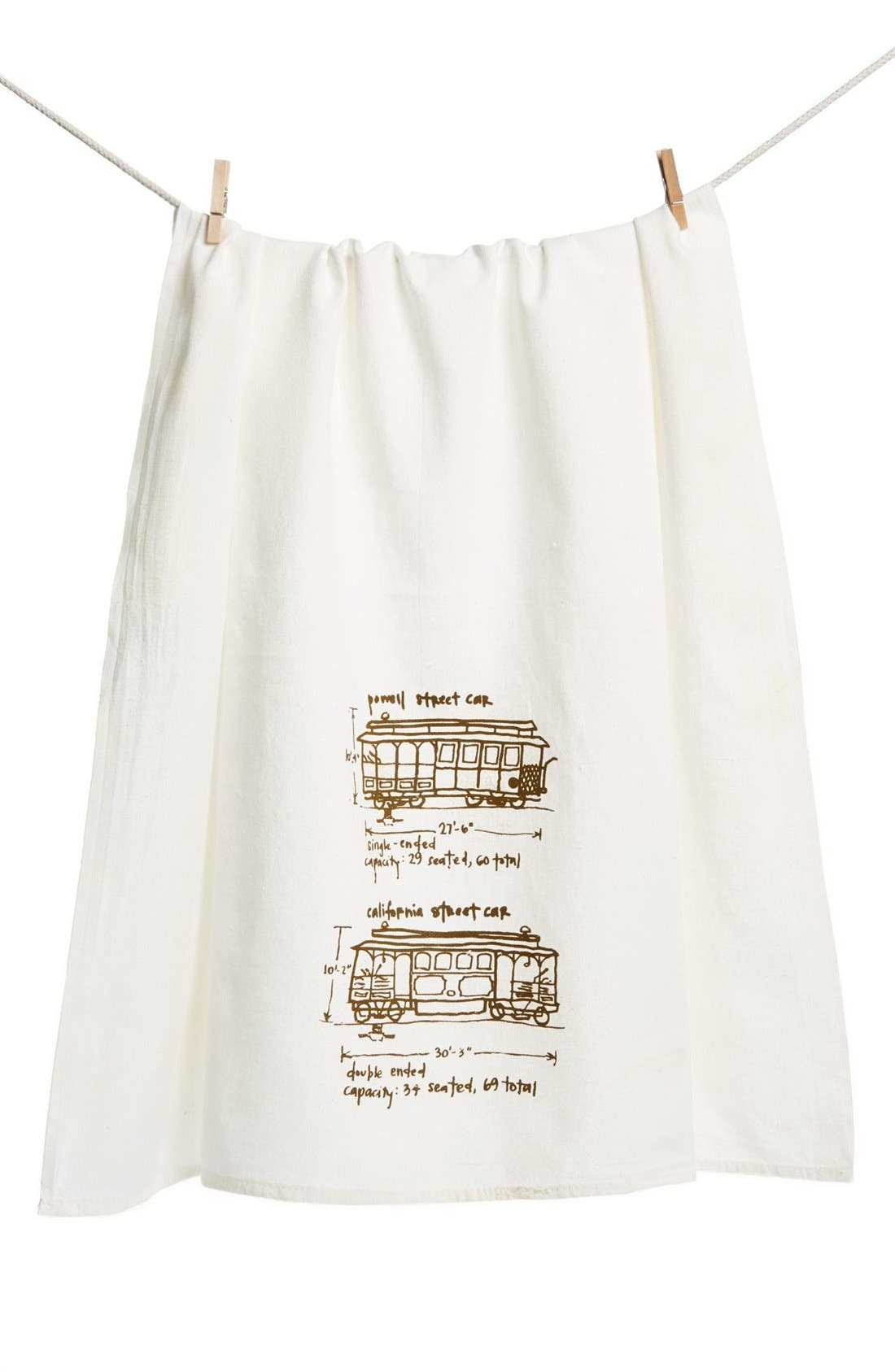 Main Image - Girls Can Tell 'San Francisco Cable Cars' Tea Towel (2 for $28)