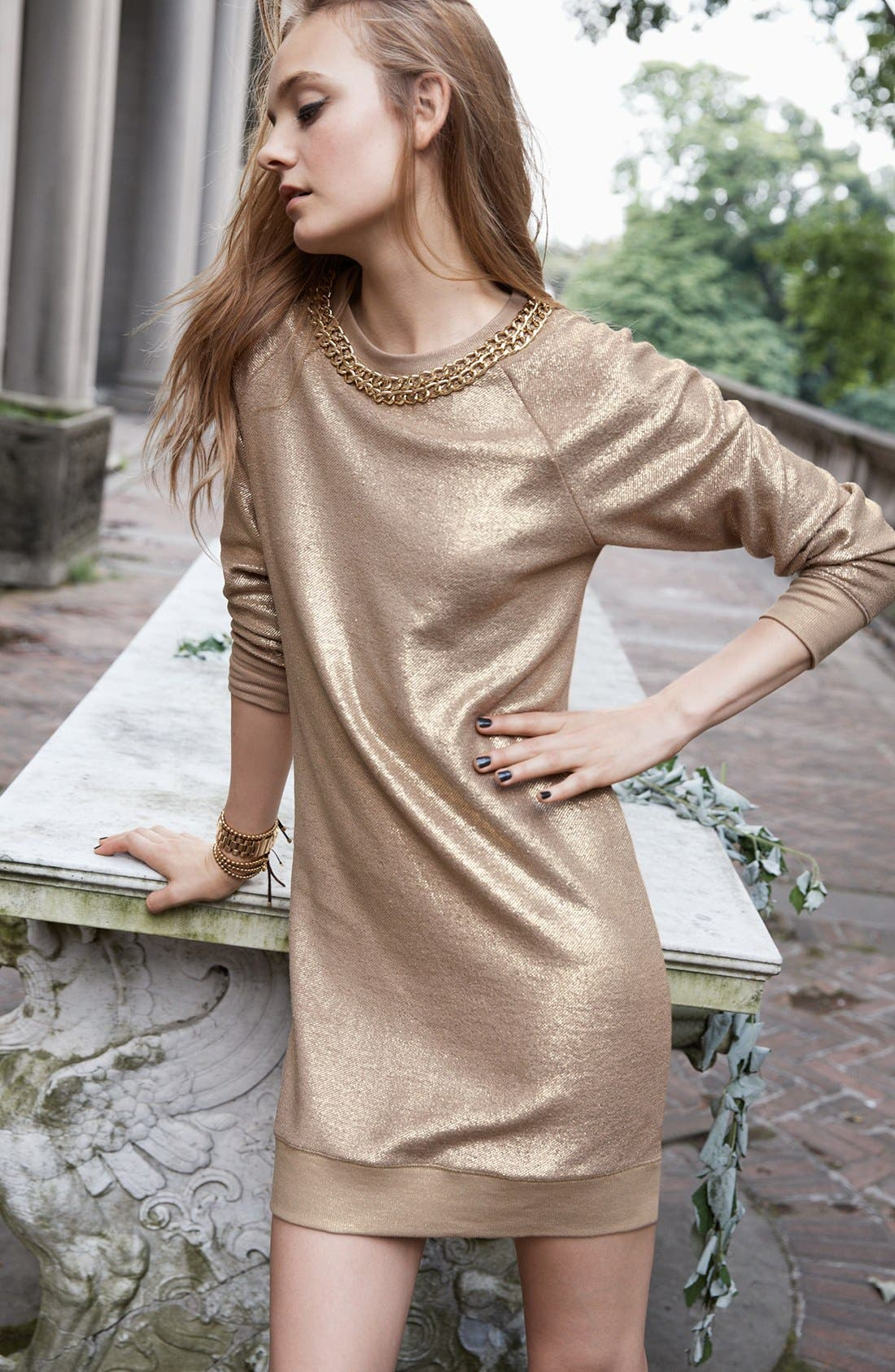 Alternate Image 4  - MICHAEL Michael Kors Foiled Cotton Terry Dress