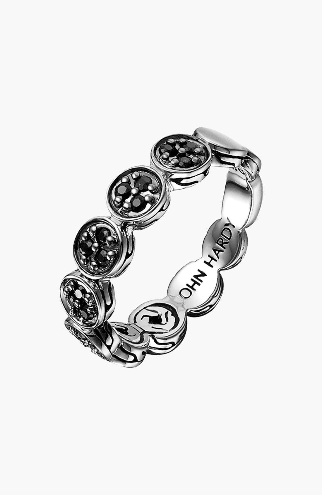 Alternate Image 1 Selected - John Hardy 'Dot Silver Lava' Pavé Black Sapphire Ring