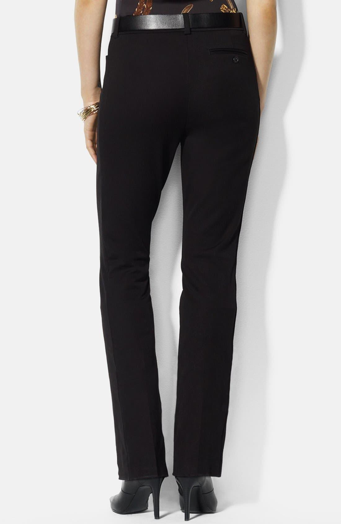 Alternate Image 2  - Lauren Ralph Lauren Stretch Twill Pants (Petite)