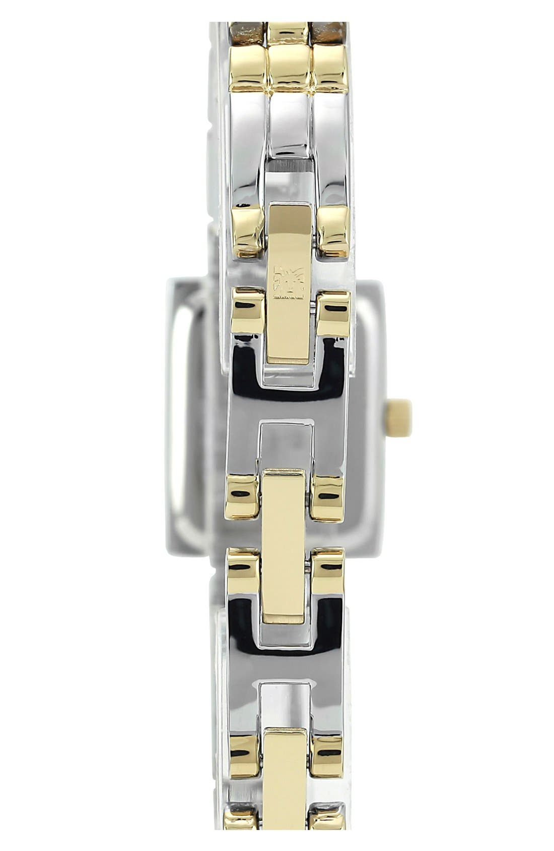 Alternate Image 2  - Anne Klein Square Case Bracelet Watch, 12mm x 16mm