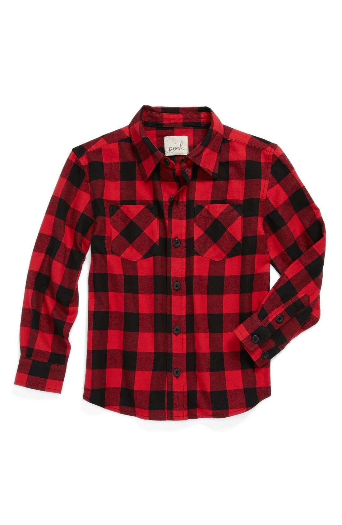 Alternate Image 1 Selected - Peek 'Buffalo' Plaid Shirt (Toddler Boys, Little Boys & Big Boys)
