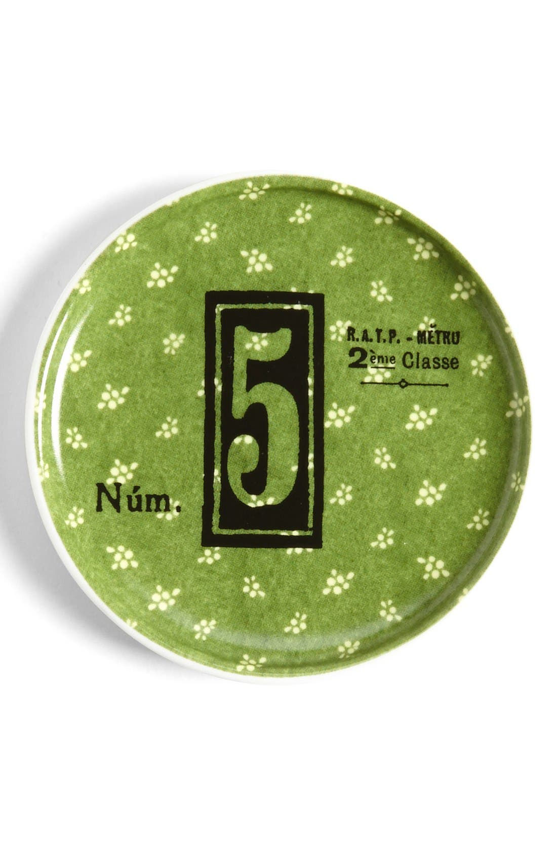 Alternate Image 1 Selected - Rosanna 'Lucky Number 5' Porcelain Dish