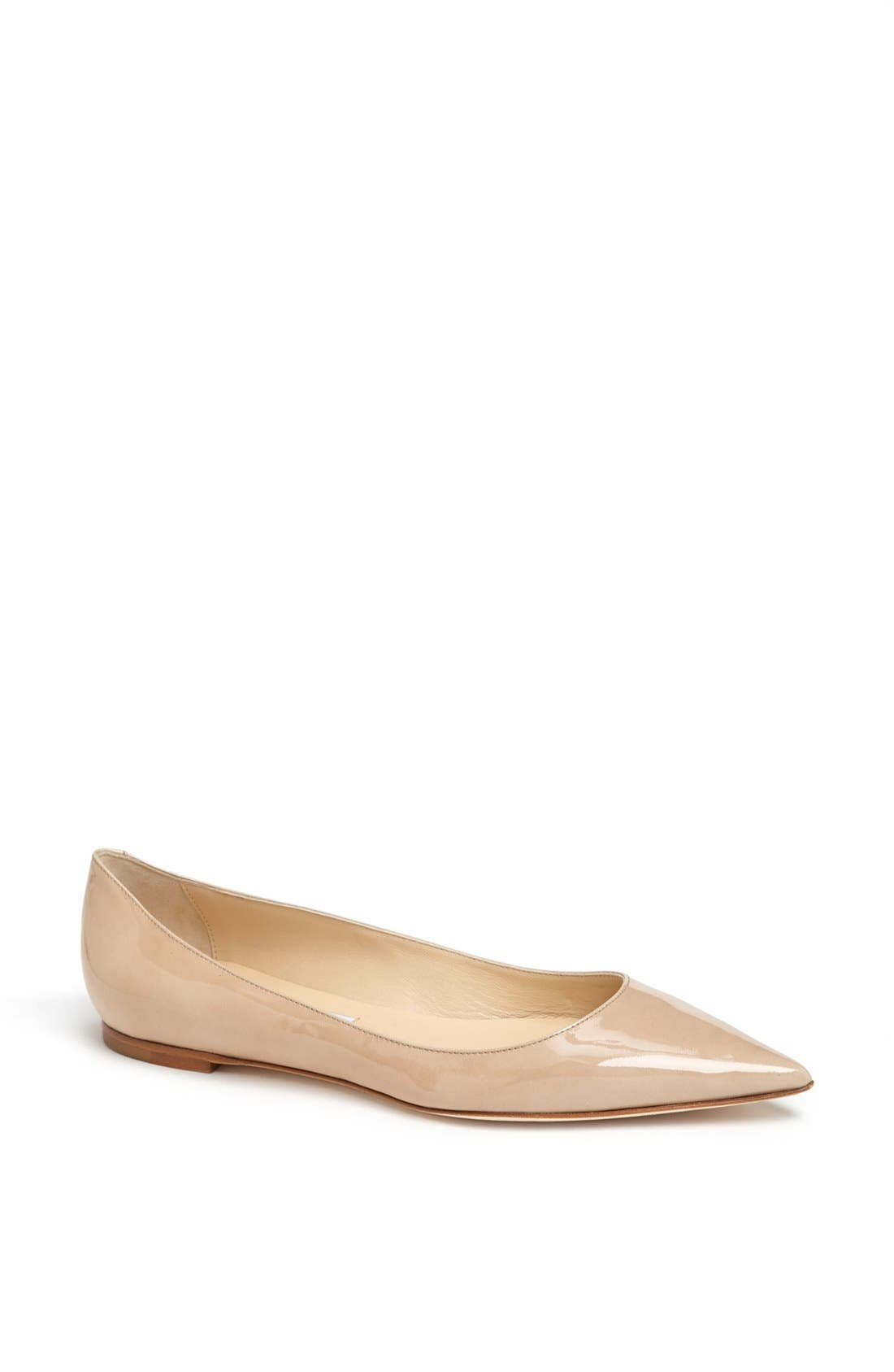 Alternate Image 1 Selected - Jimmy Choo 'Alina' Pointy Toe Flat (Women)