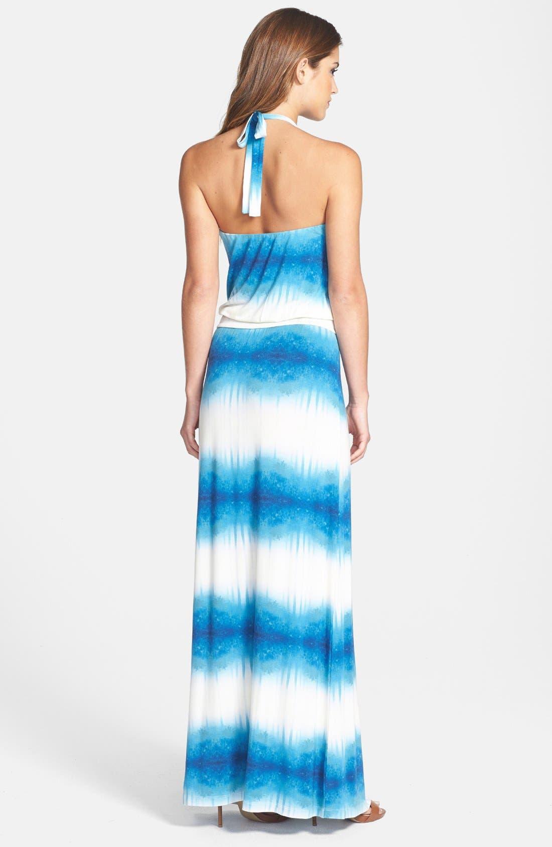 Alternate Image 2  - Tart Print Jersey Halter Maxi Dress