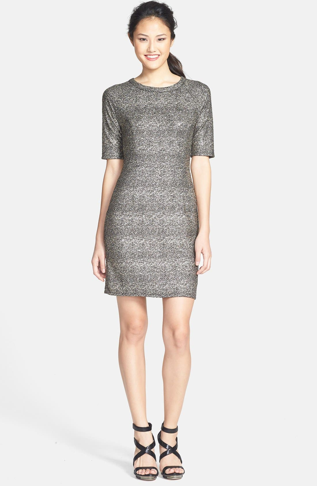 Alternate Image 1 Selected - Collective Concepts Metallic Sheath Dress