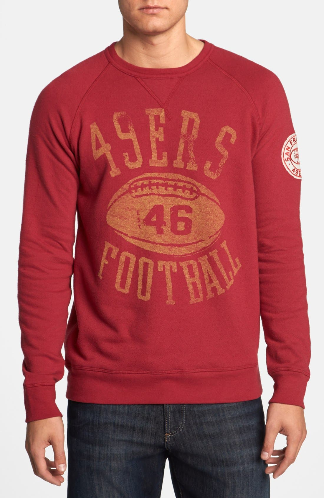 Alternate Image 1 Selected - Junk Food 'San Francisco 49ers - Field Goal' Sweatshirt