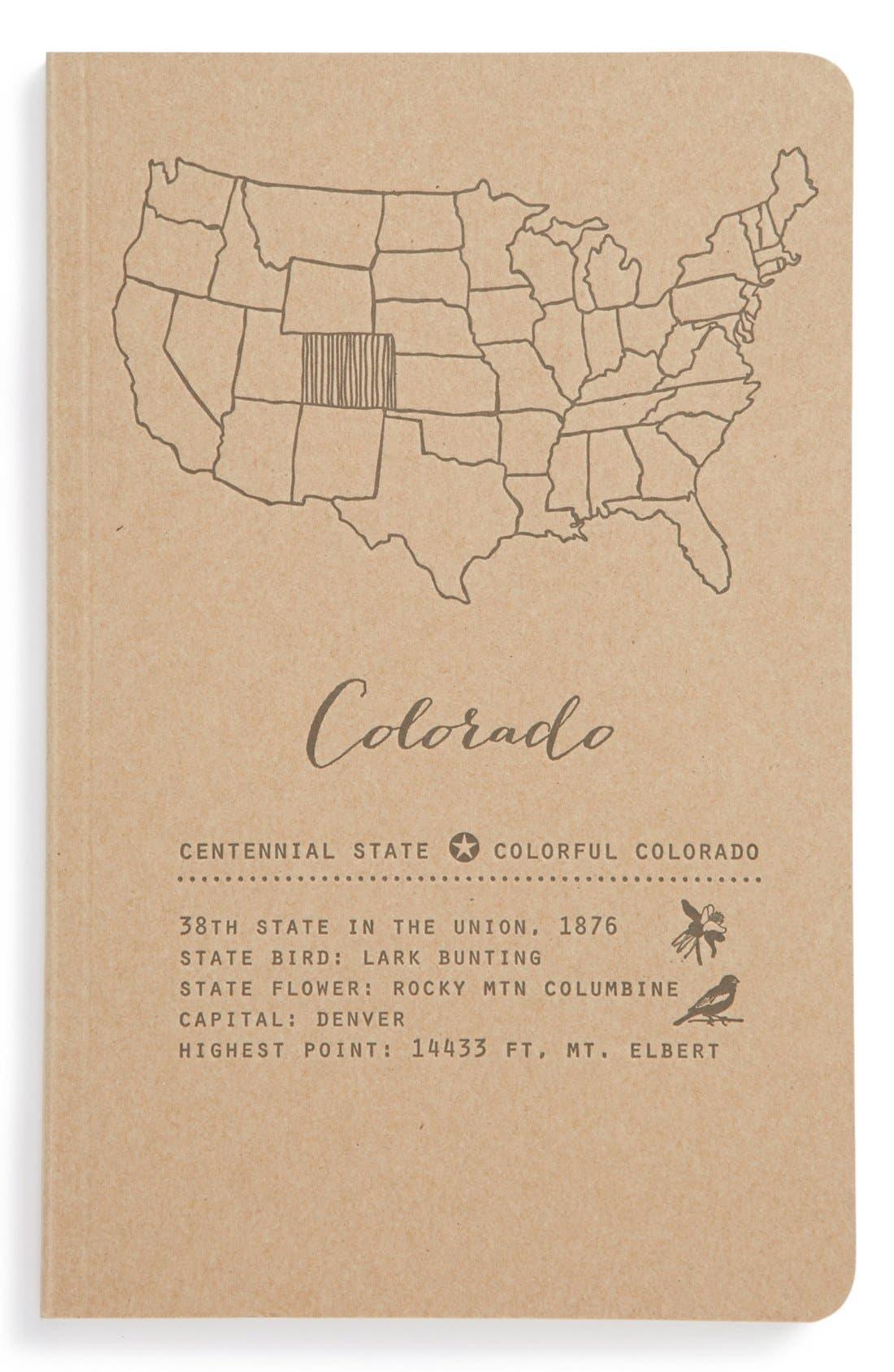 Alternate Image 1 Selected - Blackbird Letterpress 'Colorado' Journal
