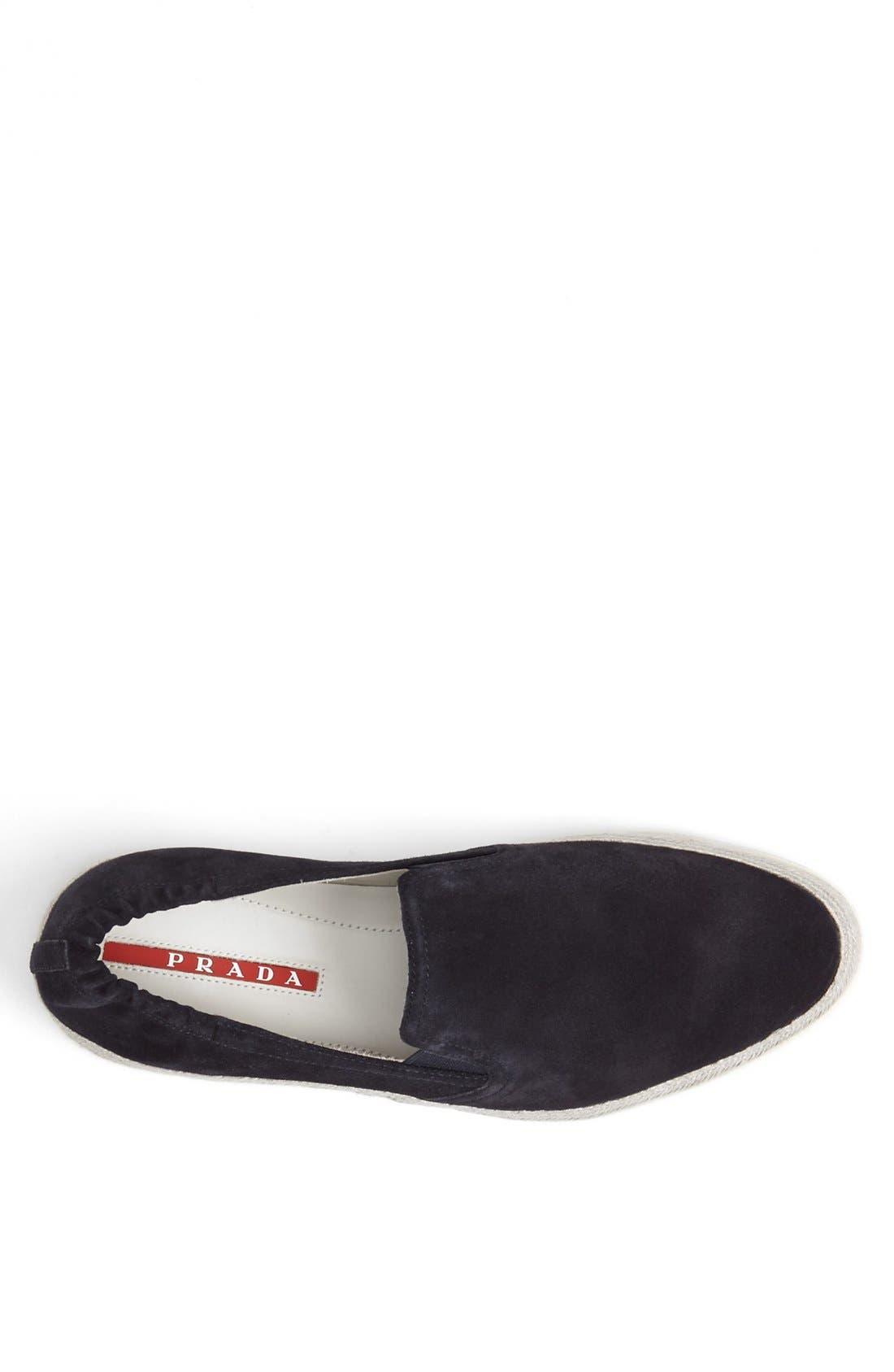 Espadrille Sneaker,                             Alternate thumbnail 3, color,                             Blue Suede
