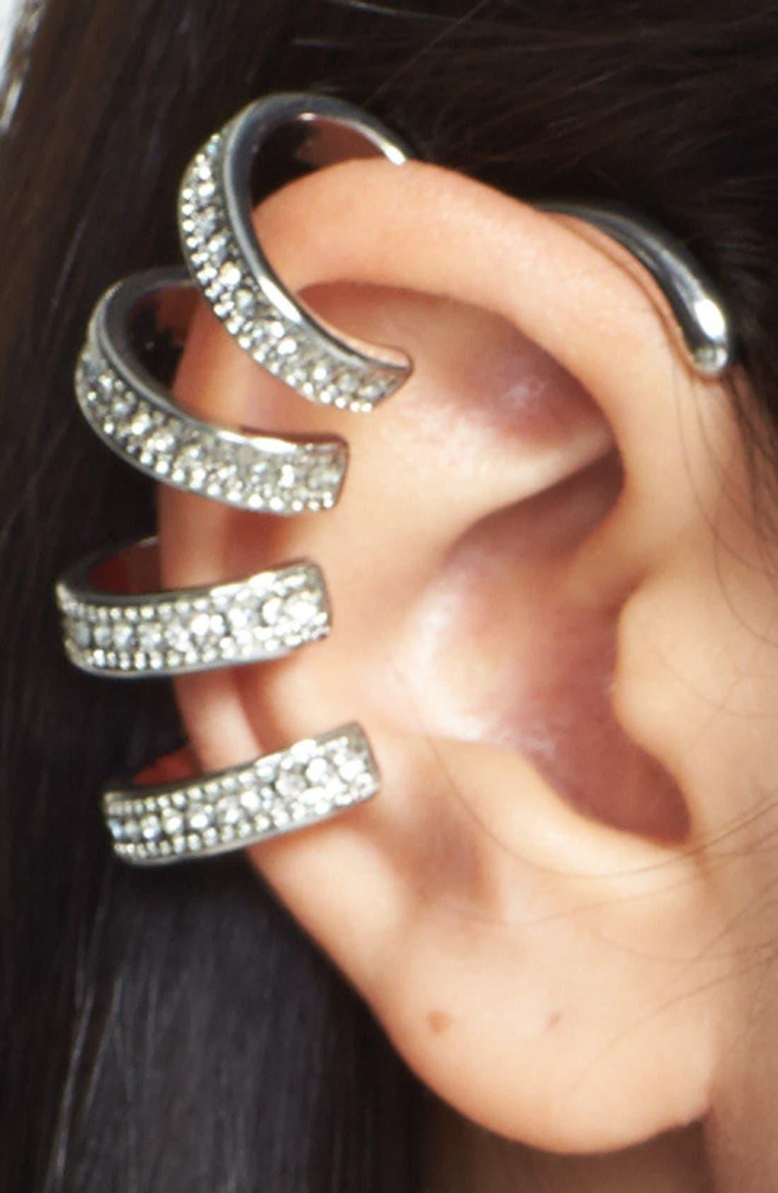 Alternate Image 2  - Tildon 'Crystal Bands' Ear Cuff