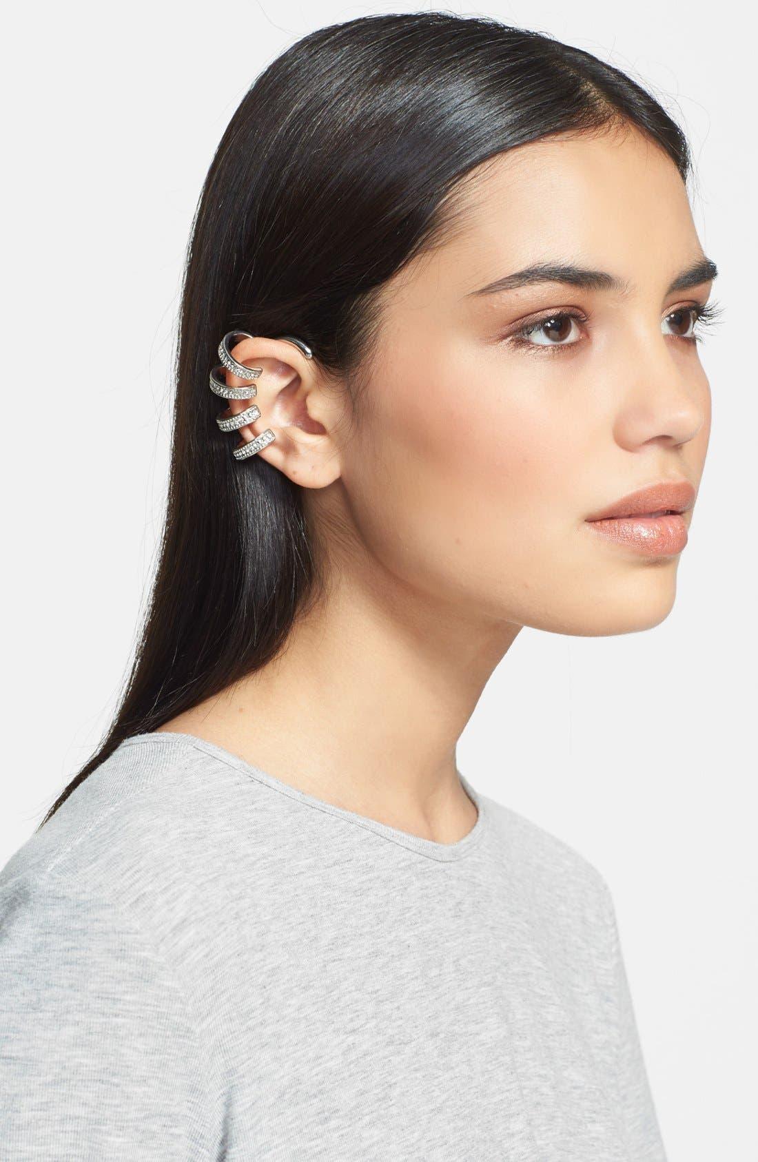 Main Image - Tildon 'Crystal Bands' Ear Cuff