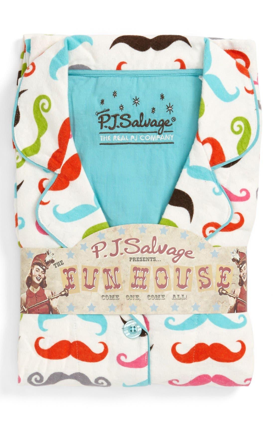 Alternate Image 1 Selected - PJ Salvage Print Flannel Pajamas (Plus Size)