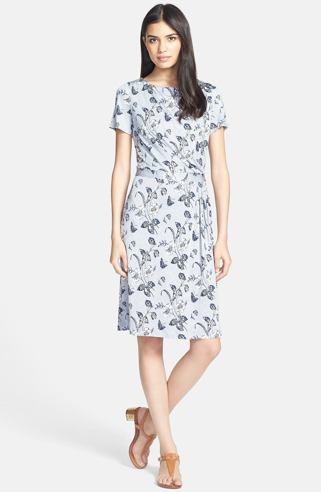 Main Image - Tory Burch 'Edna' Silk A-Line Dress