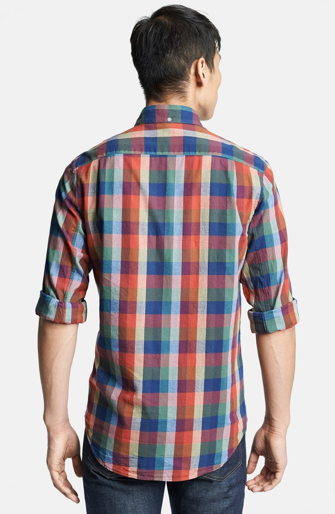 Alternate Image 2  - Steven Alan Plaid Sport Shirt