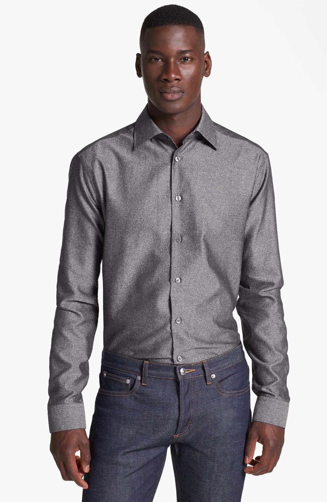 Alternate Image 1 Selected - Paul Smith London Textured Cotton Shirt