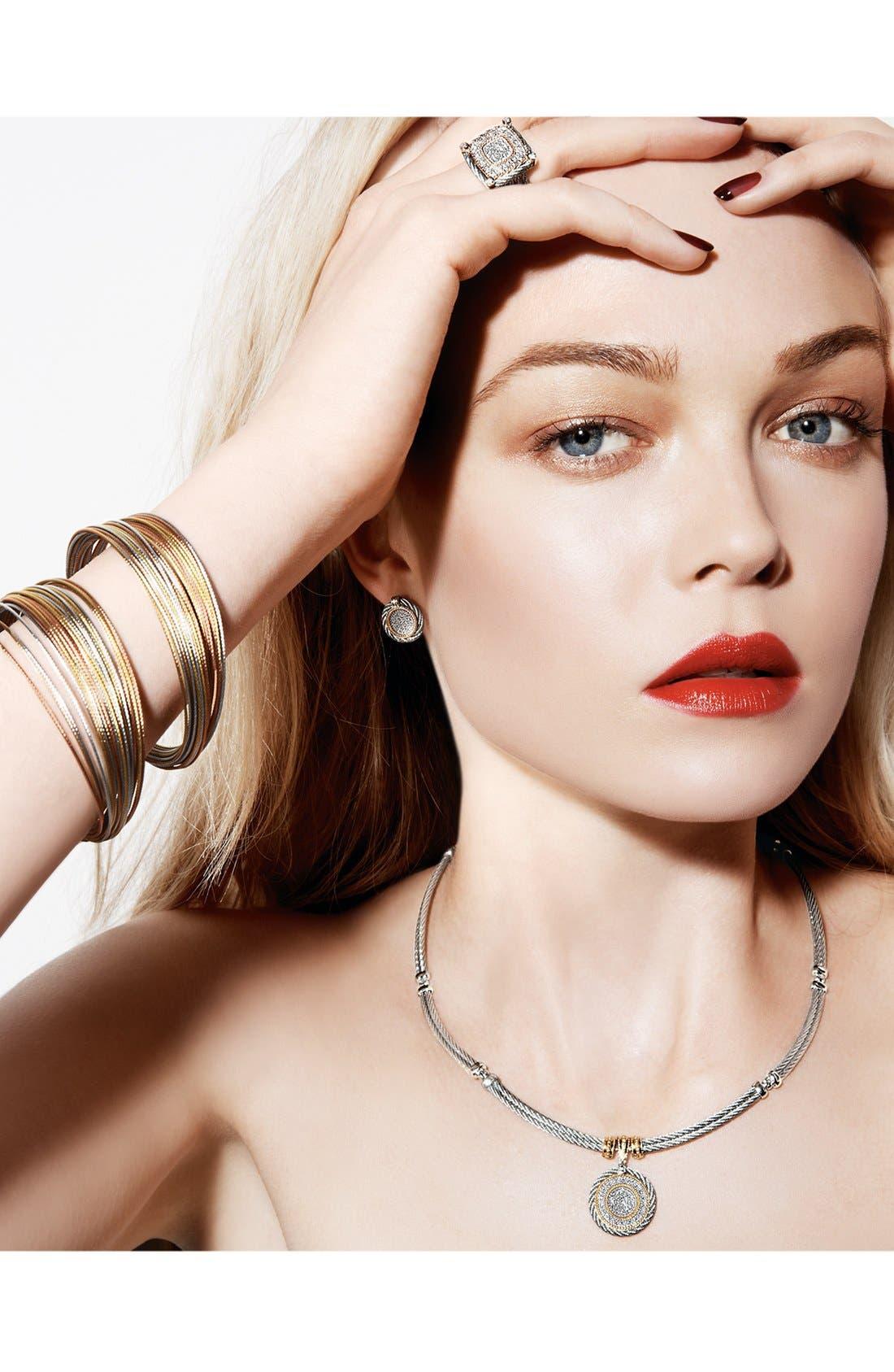 Alternate Image 3  - ALOR® Diamond Button Stud Earrings