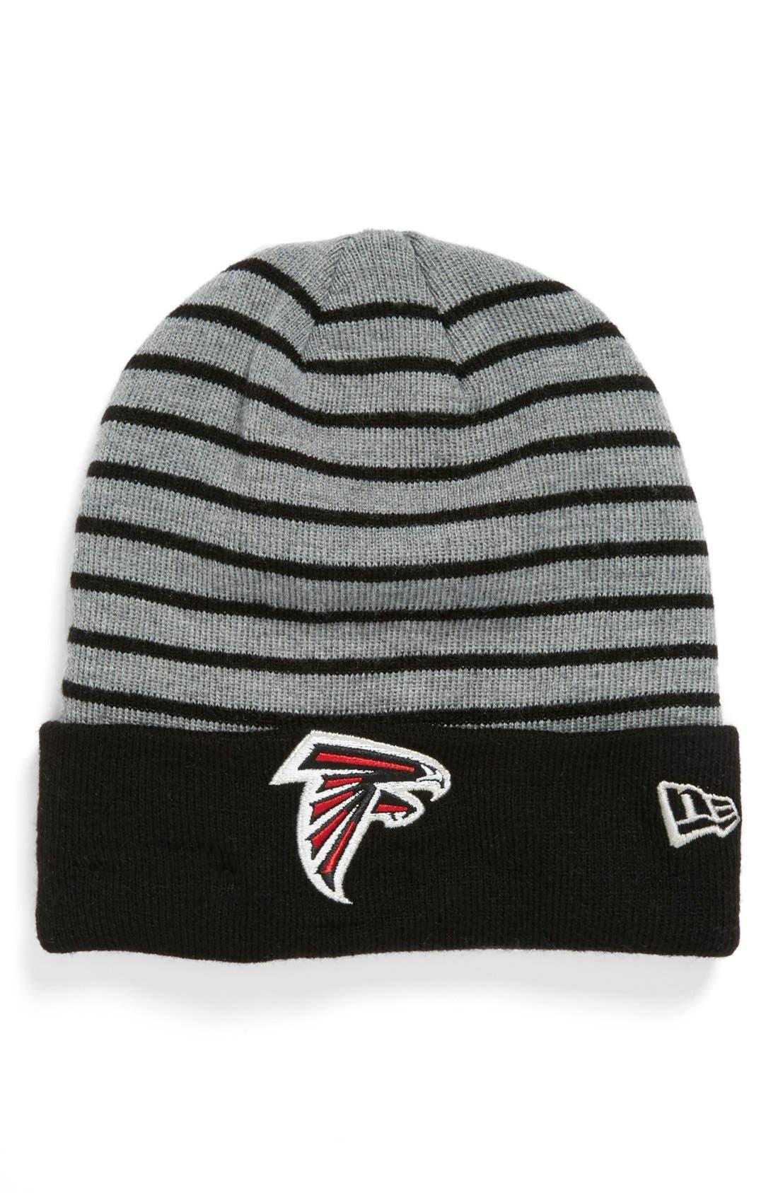 Main Image - New Era Cap 'H Stripe - Atlanta Falcons' Knit Cap