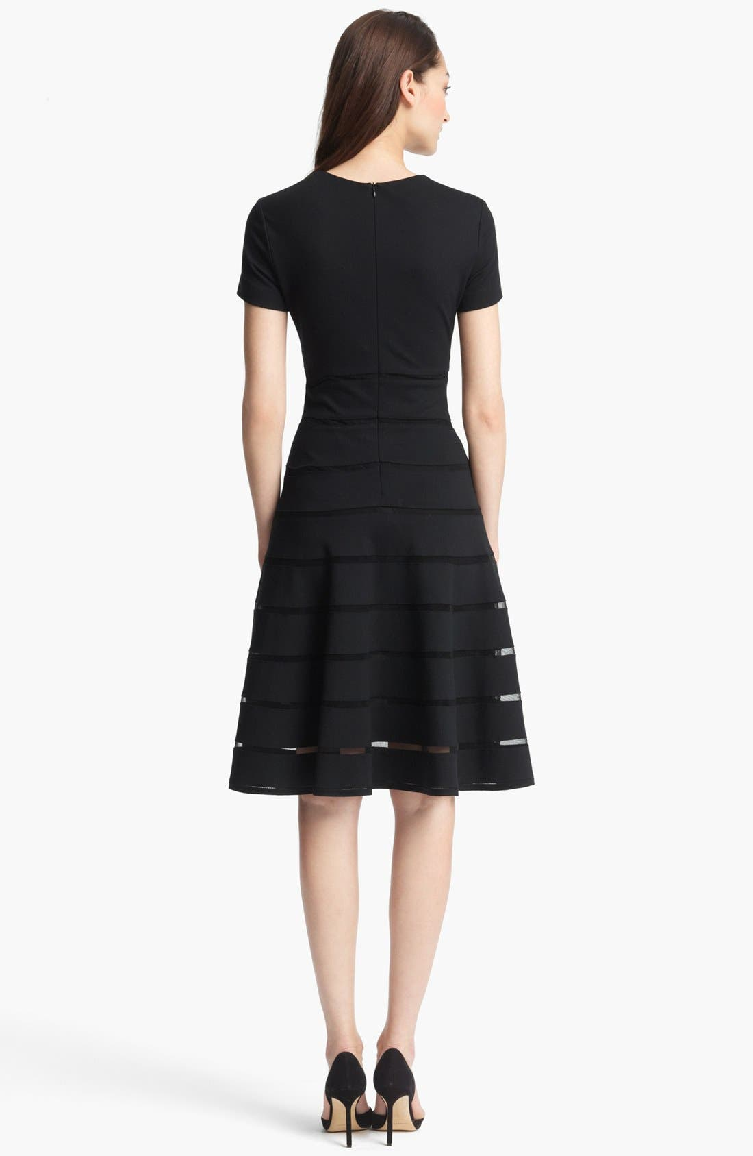 Alternate Image 2  - ESCADA 'Dondi' Mesh Stripe Flared Dress
