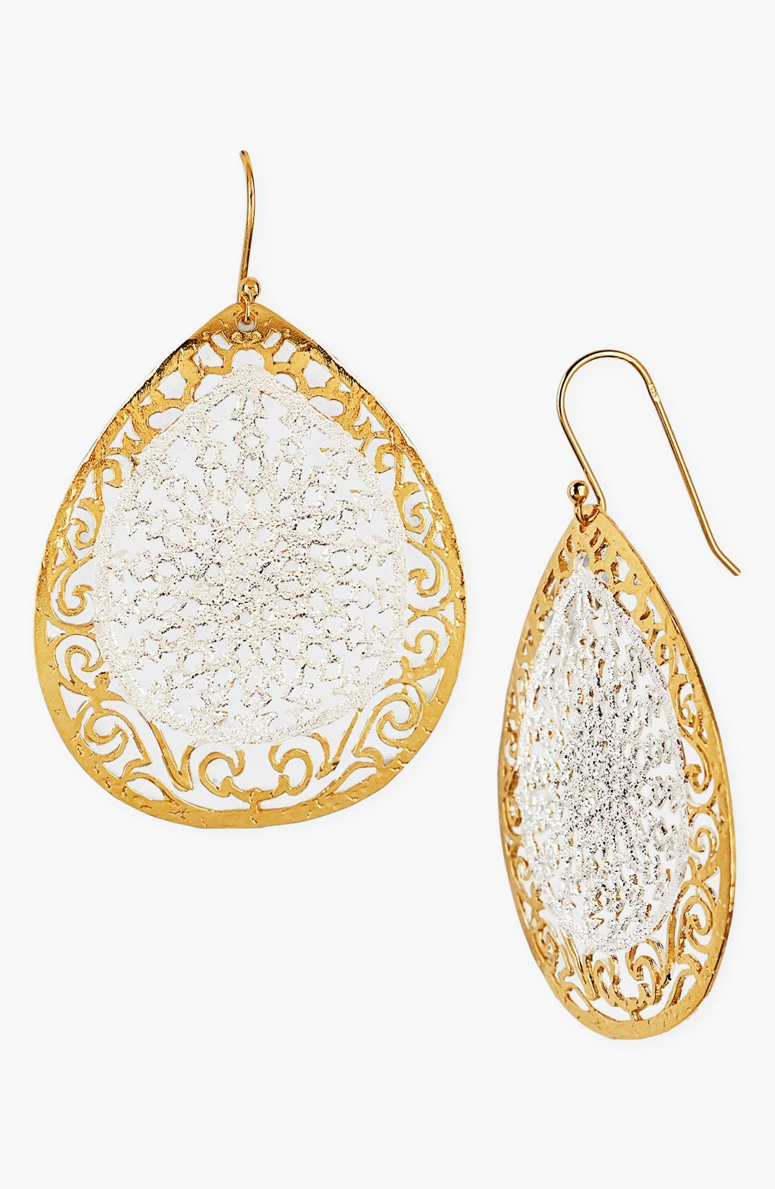 Main Image - Argento Vivo 'Glitter' Teardrop Earrings