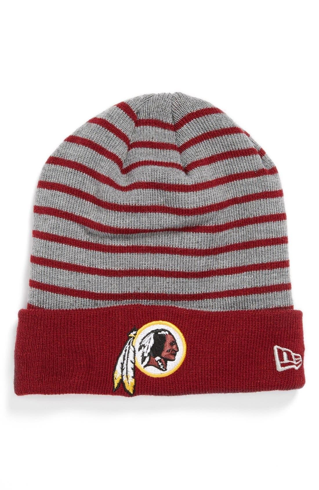Alternate Image 1 Selected - New Era Cap 'H Stripe - Washington Redskins' Knit Cap
