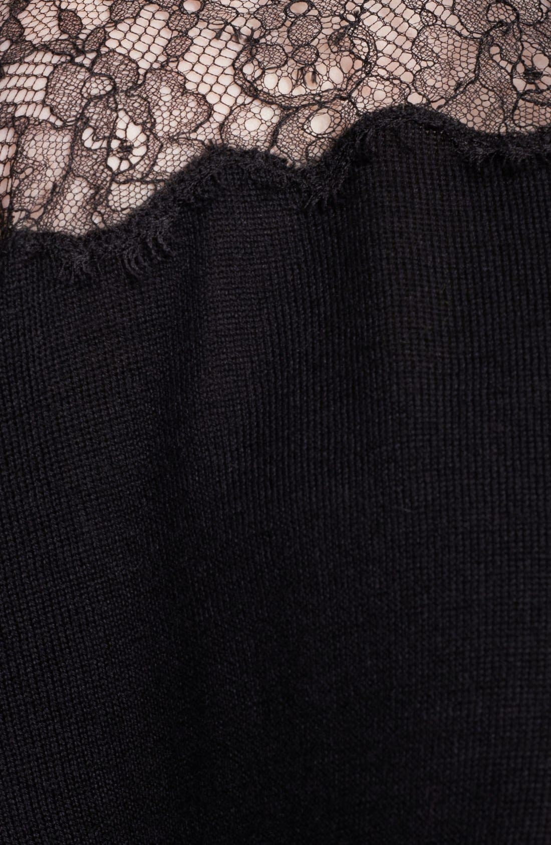 Alternate Image 3  - Valentino Lace Illusion Shoulder Sweater