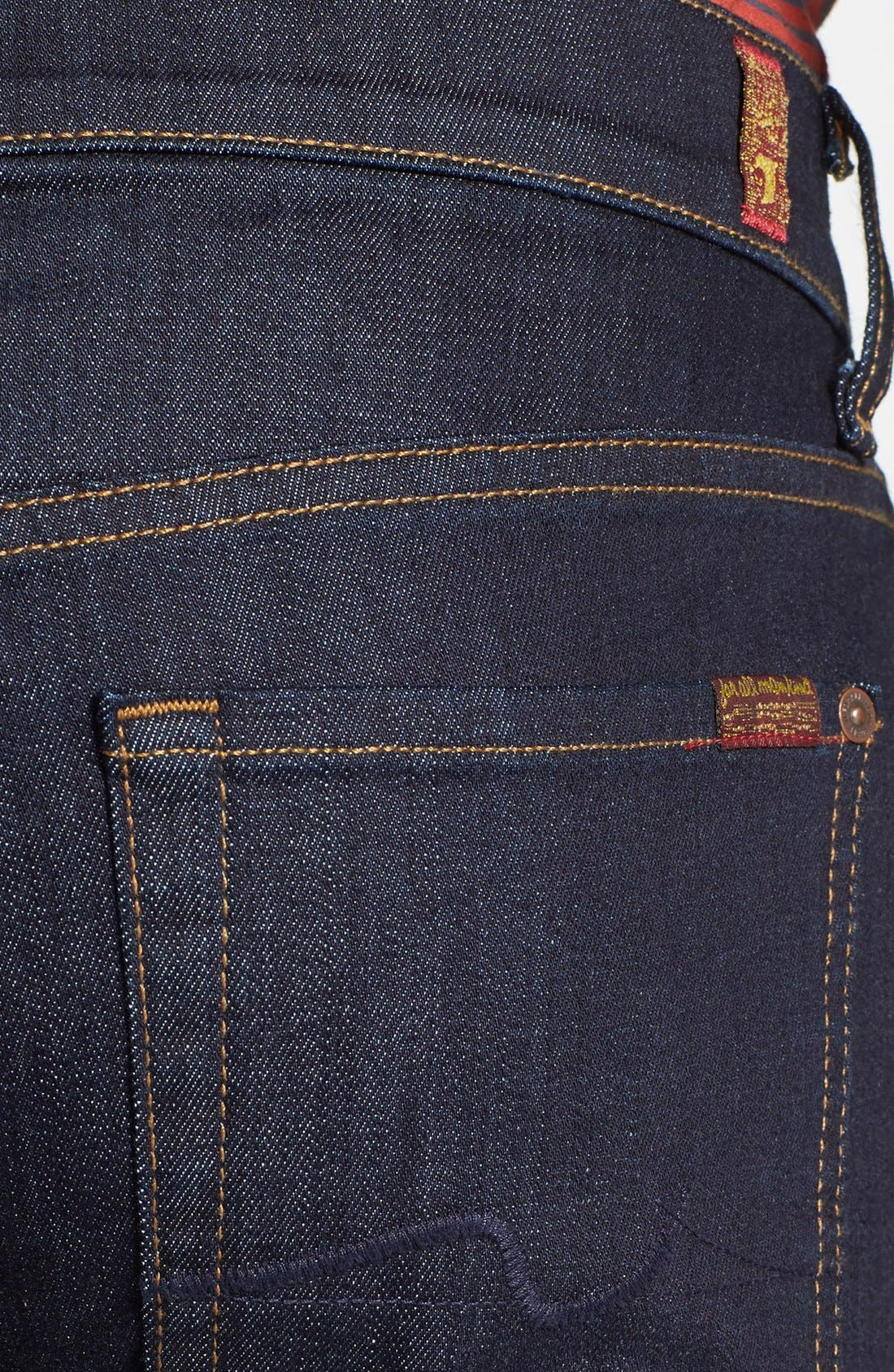 Alternate Image 4  - 7 For All Mankind® 'Slimmy' Slim Fit Jeans (Dark & Clean)