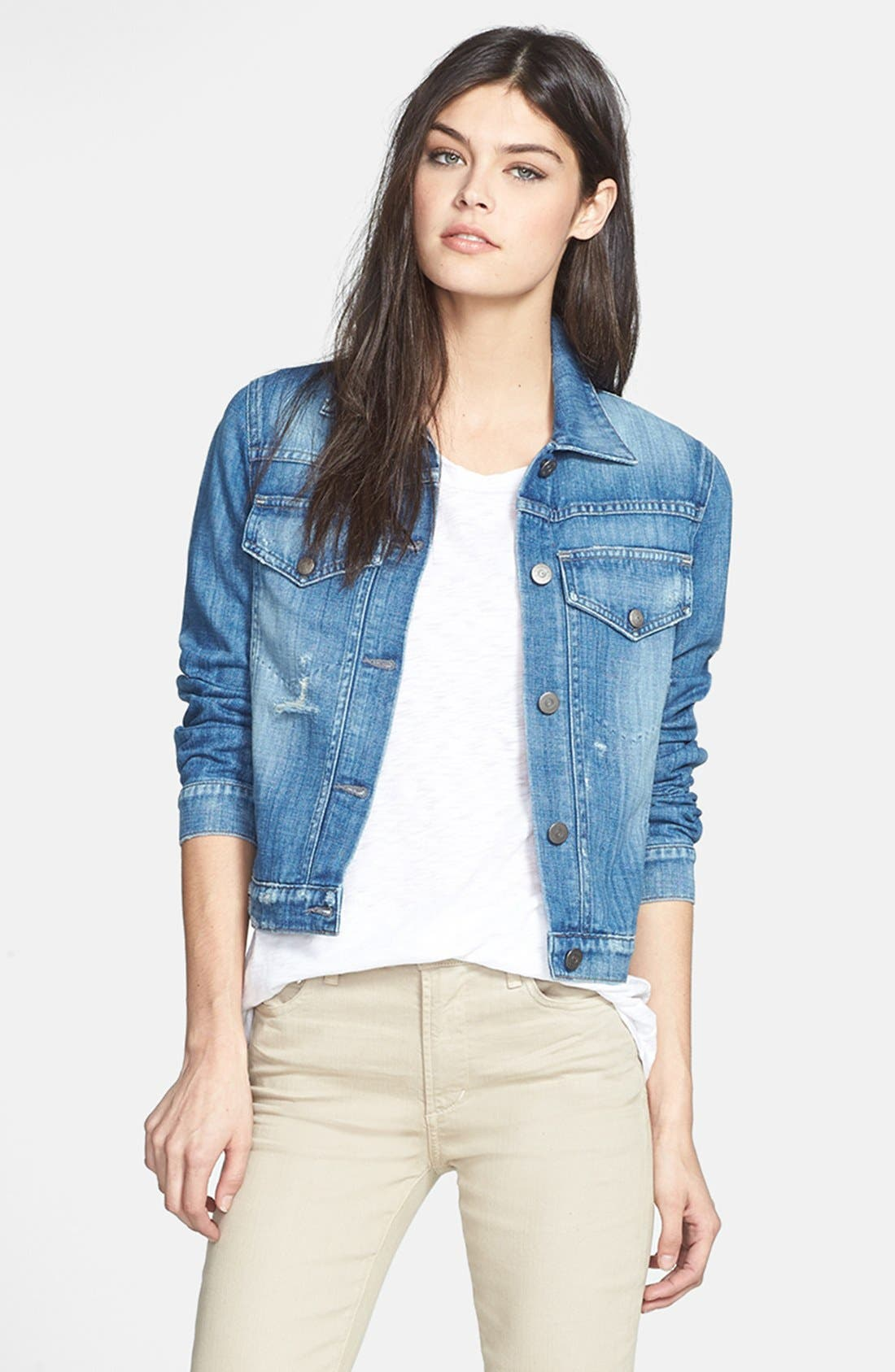 Main Image - Citizens of Humanity 'Borderline' Distressed Denim Jacket
