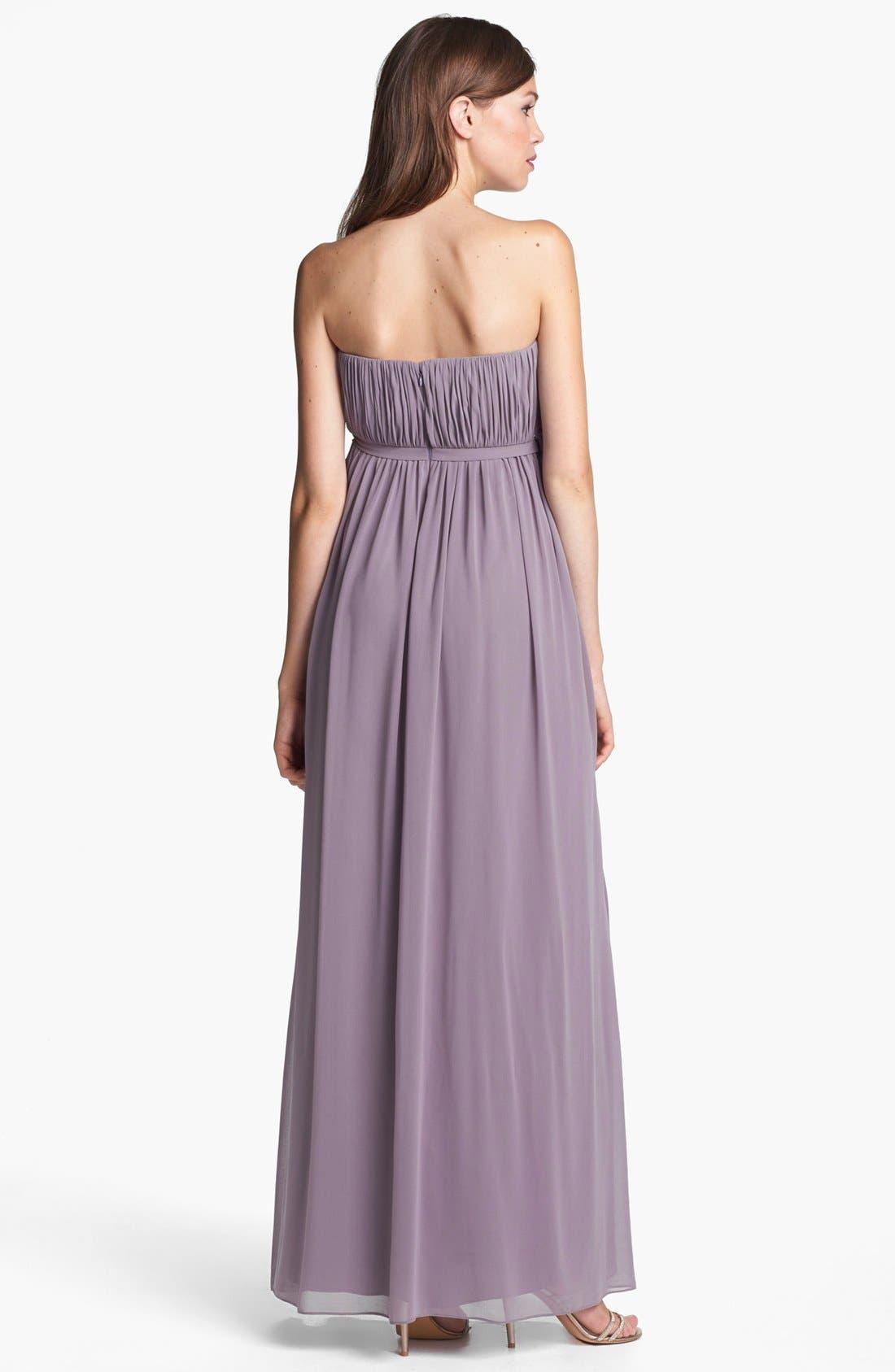 Alternate Image 2  - Donna Morgan 'Lily' Draped Chiffon Dress