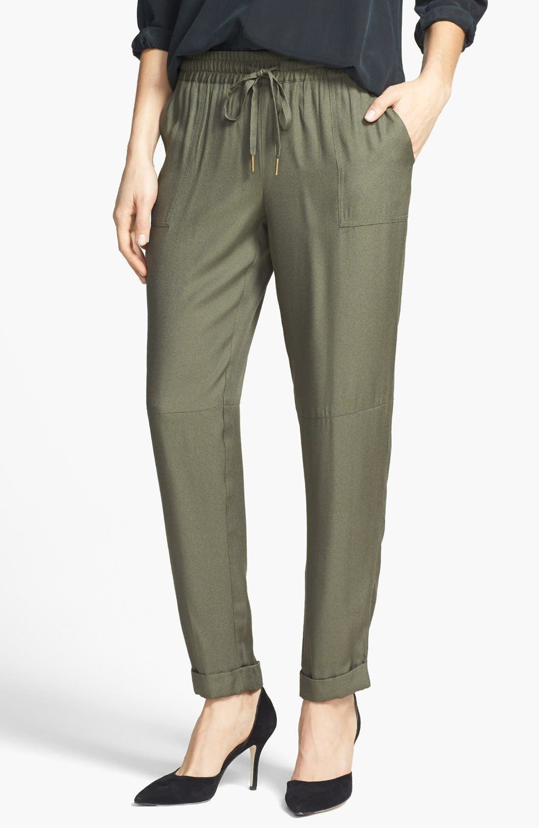 Alternate Image 1 Selected - Joie 'Maxi' Tapered Leg Crepe Pants