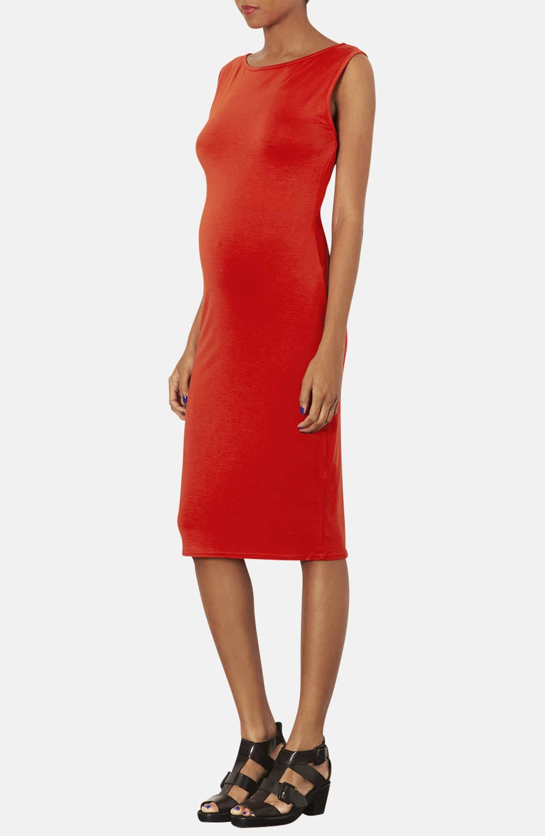 Alternate Image 3  - Topshop Jersey Body-Con Maternity Dress