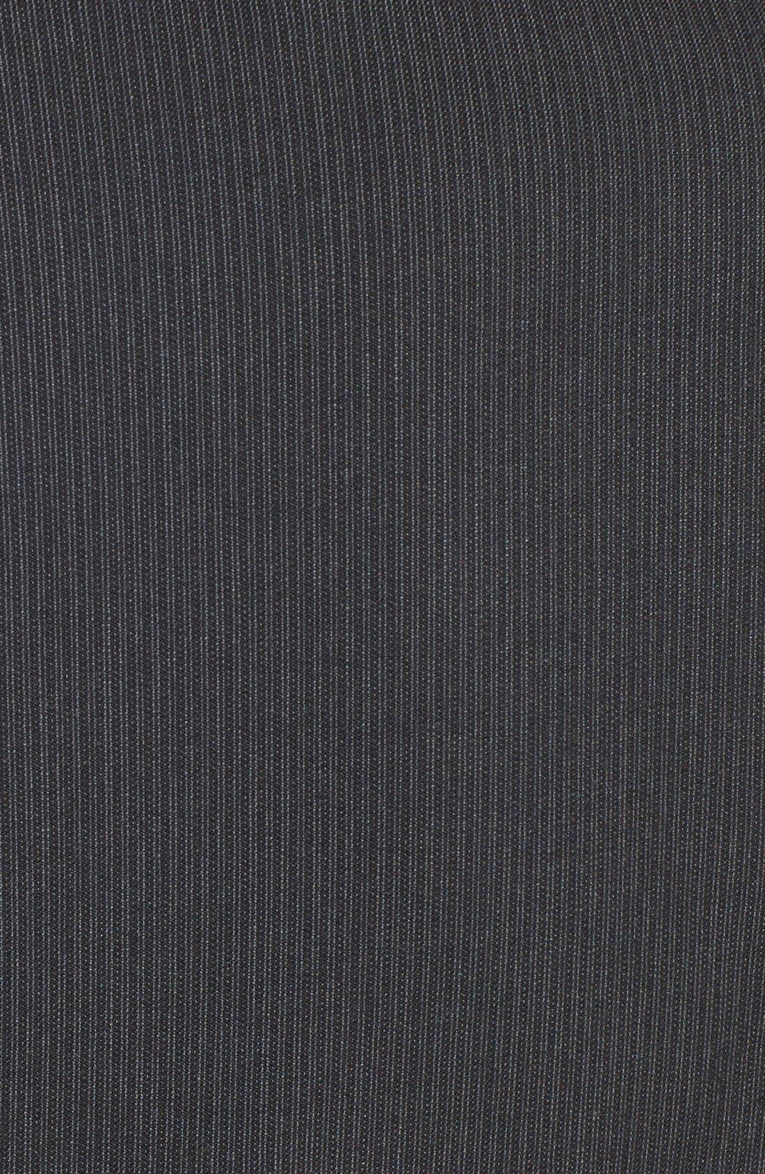 Alternate Image 3  - Halogen® Mini Pinstripe Belted Suit Jacket