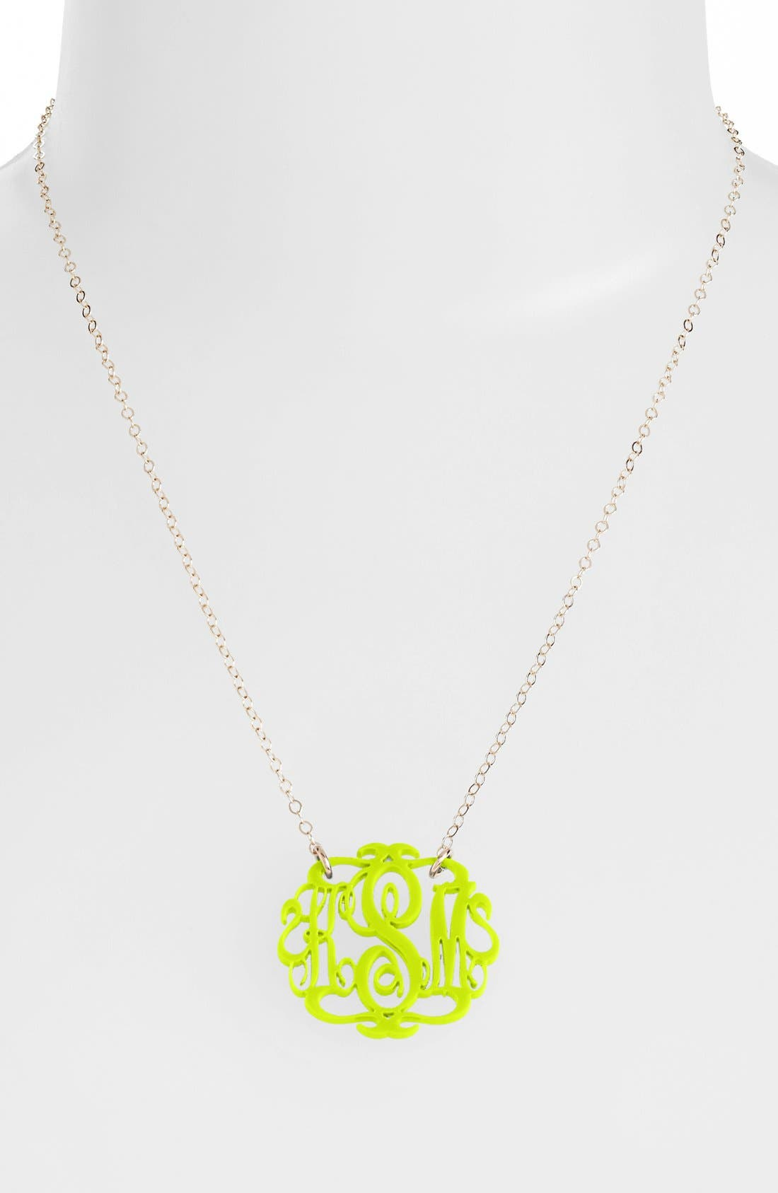 Moon and Lola Small Oval Personalized Monogram Pendant Necklace (Nordstrom Exclusive)