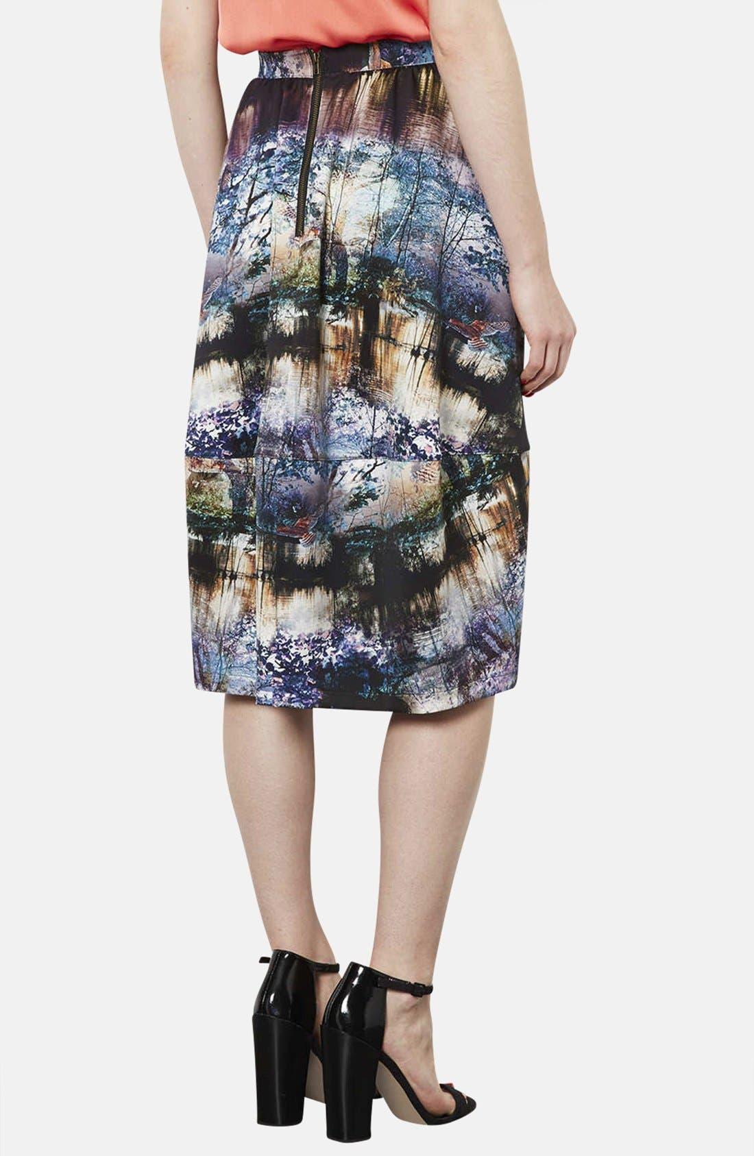 Alternate Image 2  - Topshop Photorealistic Print Midi Skirt