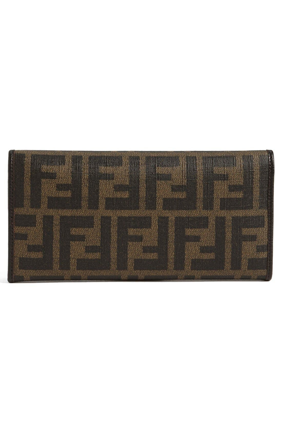 Alternate Image 4  - Fendi 'Zucca' Continental Wallet