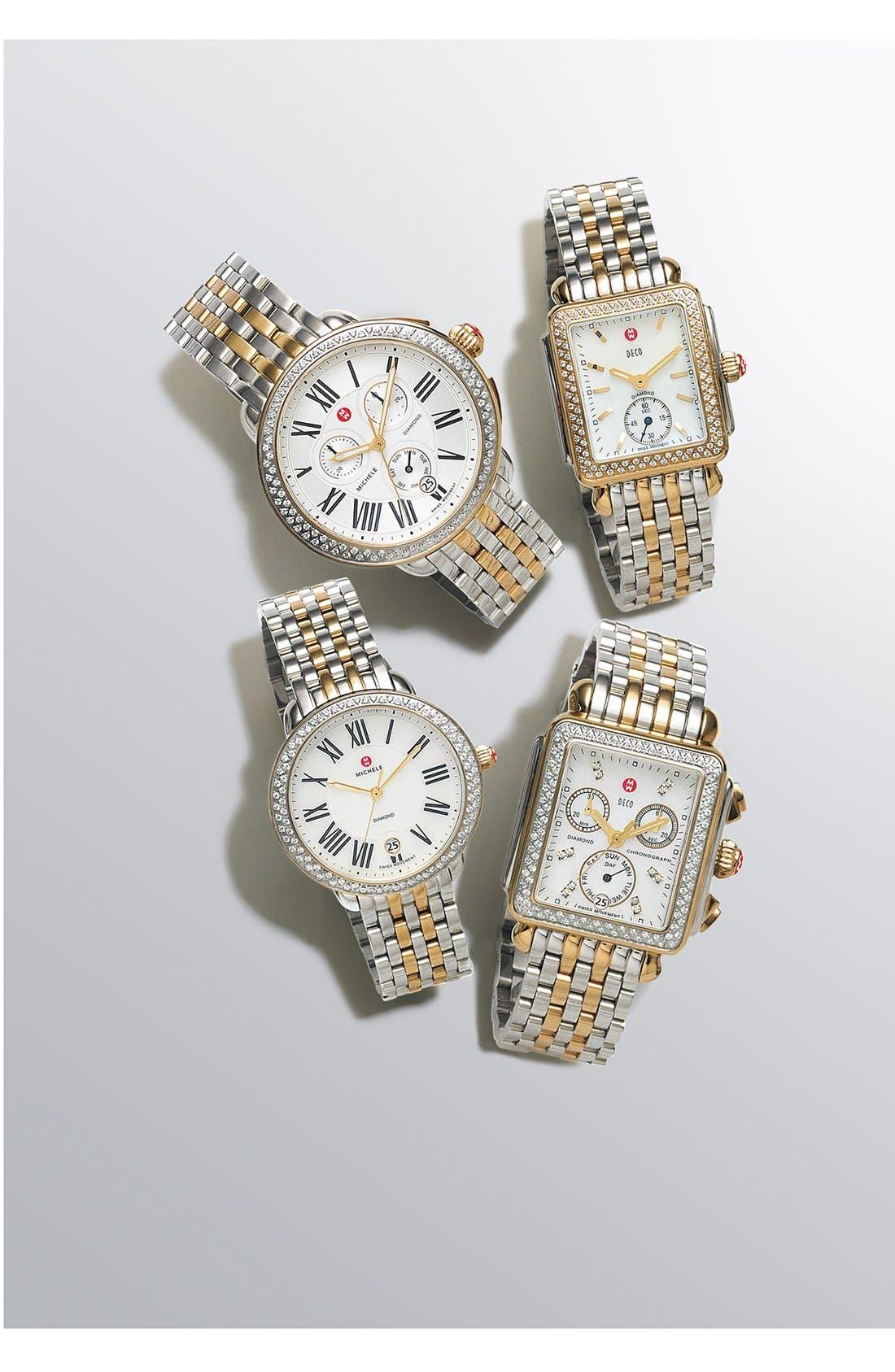 Alternate Image 3  - MICHELE Serein 16 Diamond Watch Case, 34mm x 36mm
