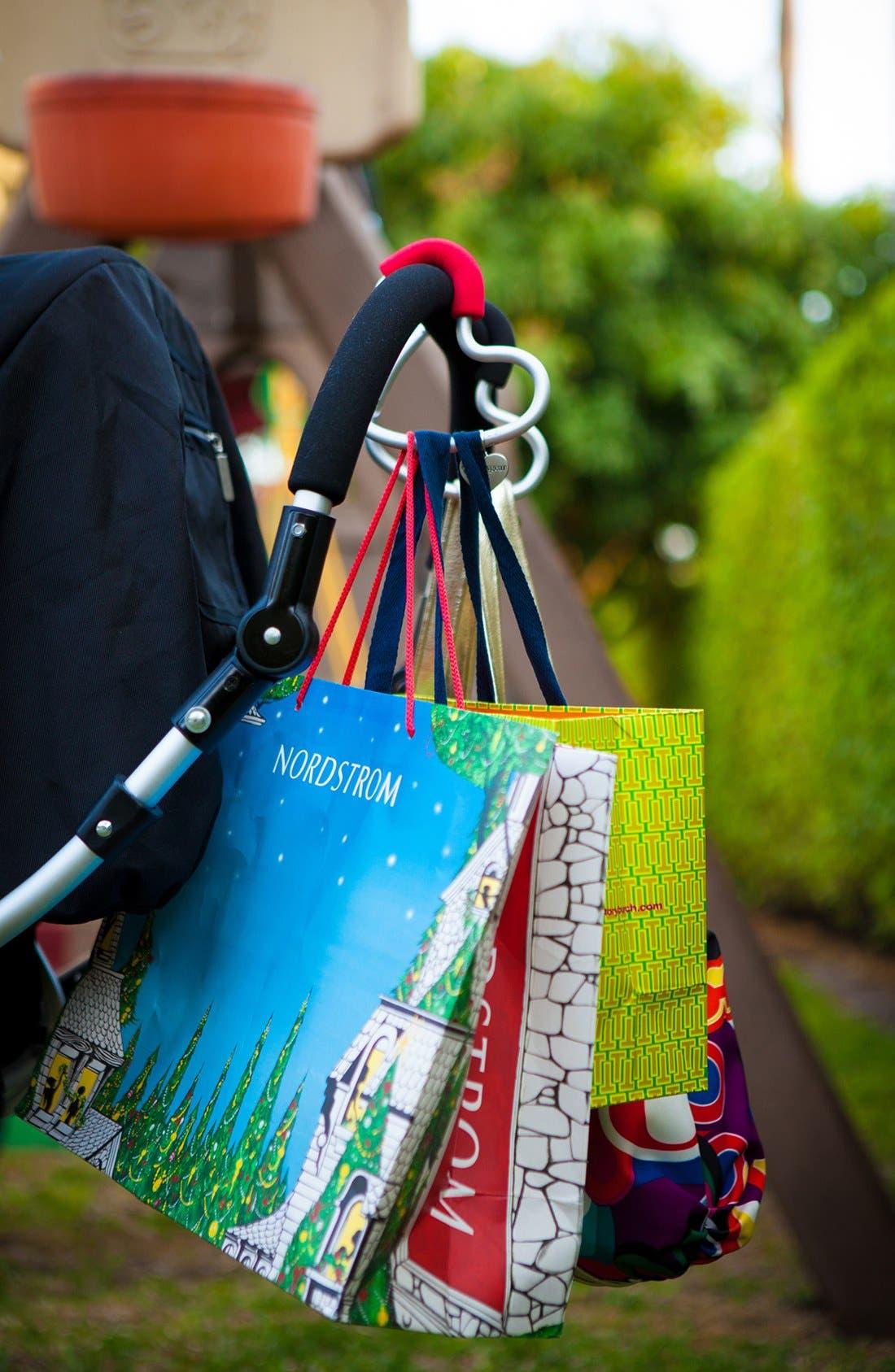 Buggygear 'Buggy Heart Hook' Stroller Bag Hanger,                             Alternate thumbnail 5, color,                             Silver/ Black
