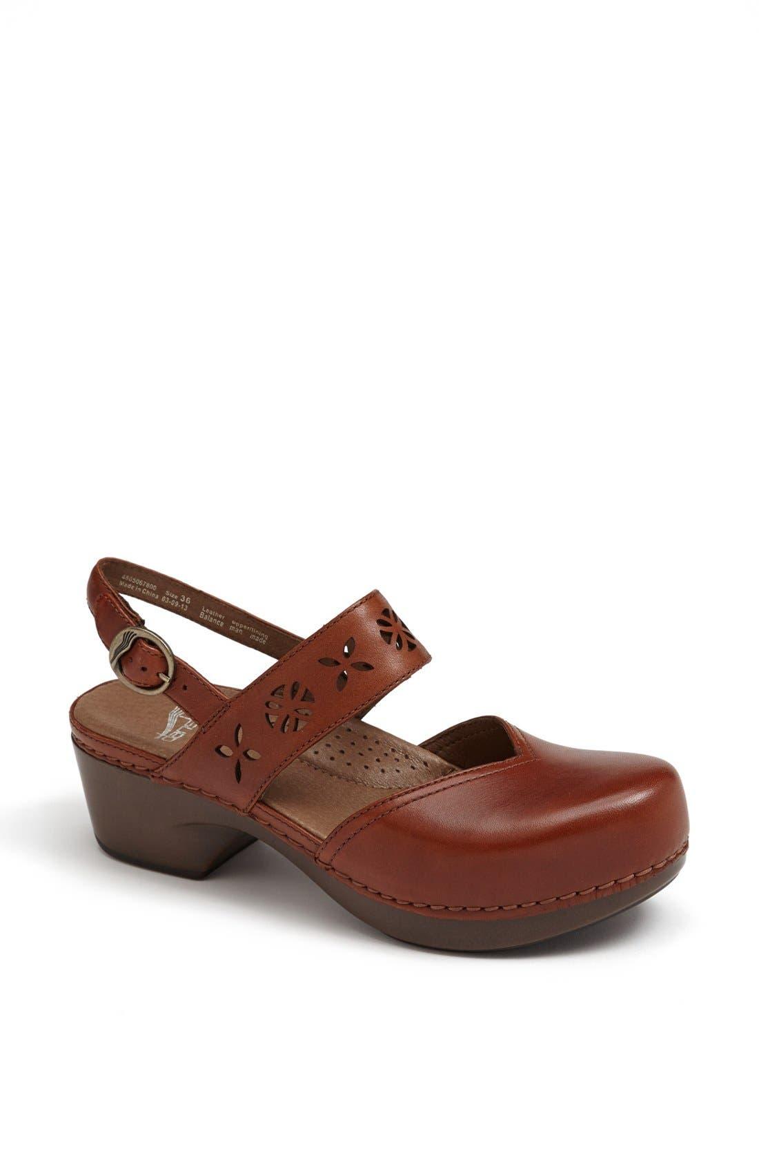 Alternate Image 1 Selected - Dansko 'Trista' Leather Clog