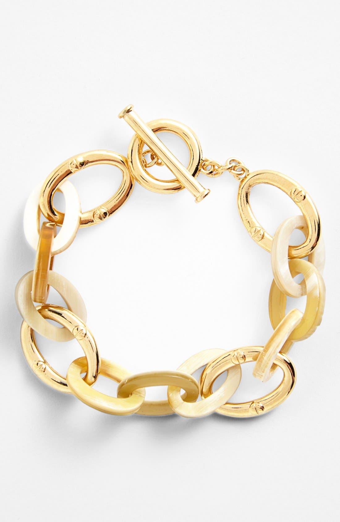 Main Image - Lauren Ralph Lauren Horn & Chain Toggle Bracelet