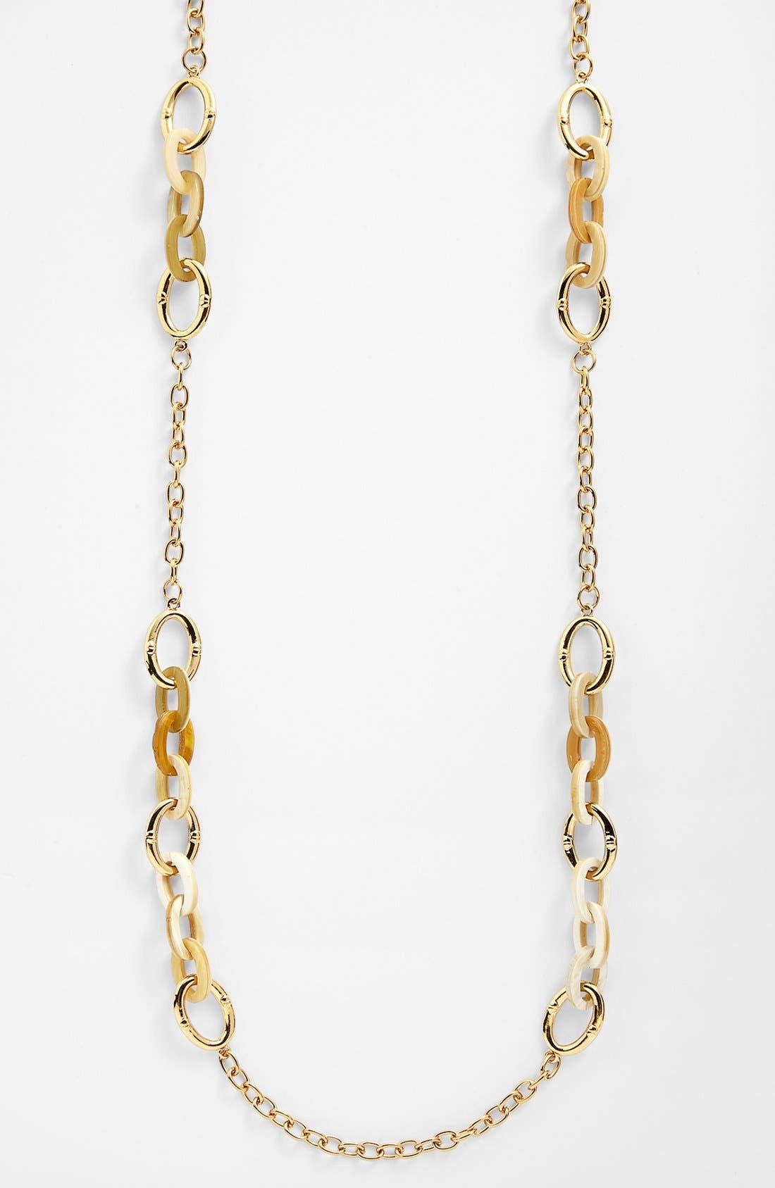 Alternate Image 2  - Lauren Ralph Lauren Horn & Chain Long Necklace