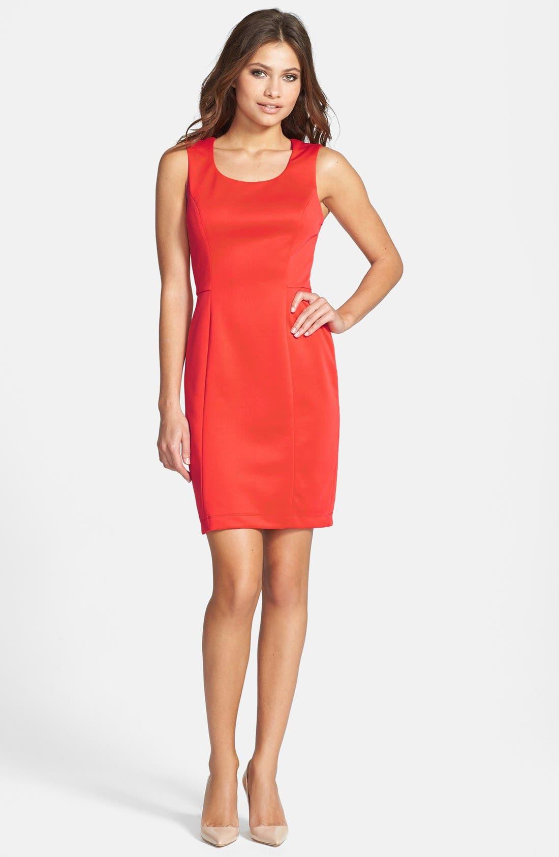 Alternate Image 2  - Jessica Simpson Cutout Back Scuba Sheath Dress
