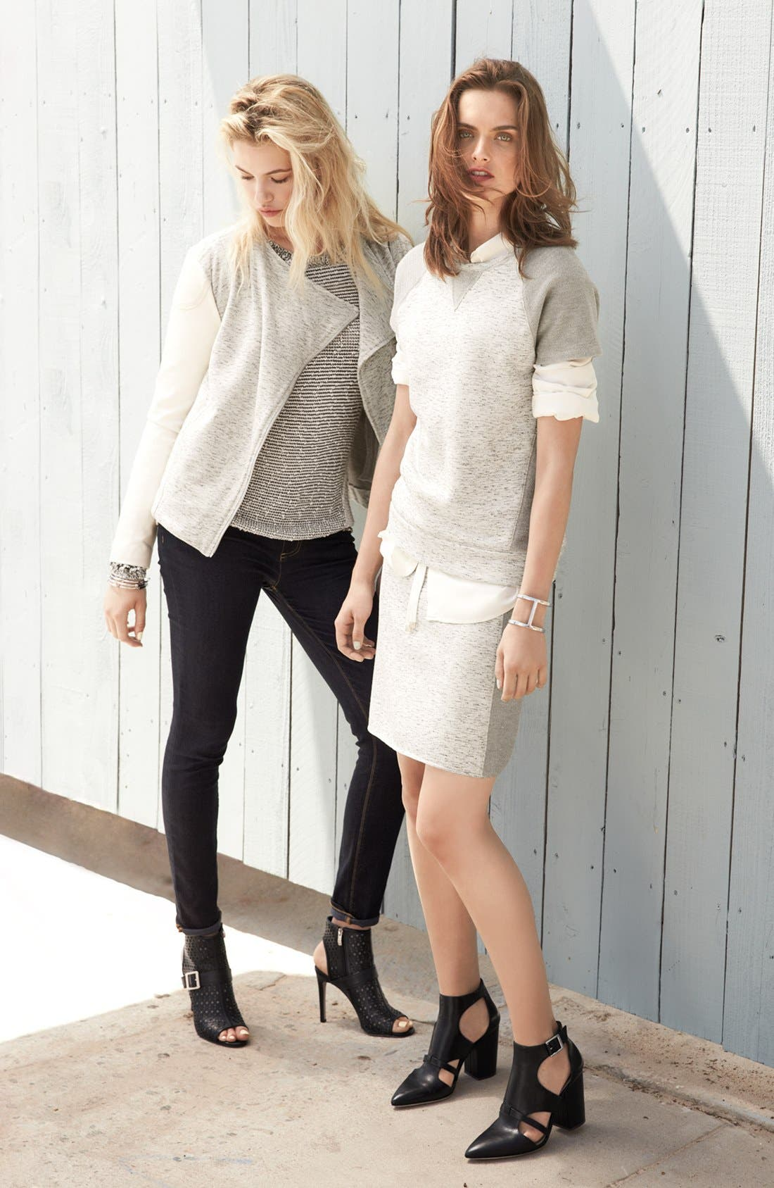 Alternate Image 4  - Two by Vince Camuto Mixed Stitch Crewneck Sweater