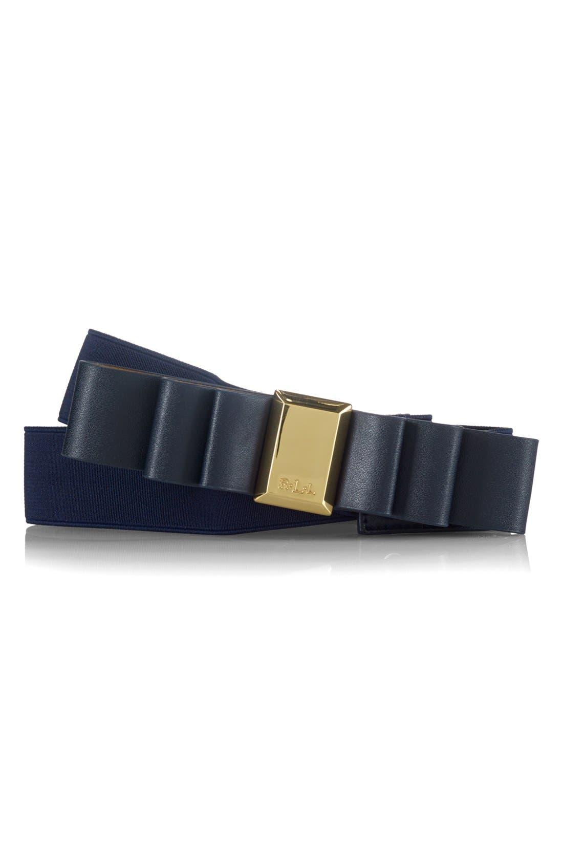 Alternate Image 1 Selected - Lauren Ralph Lauren Bow Stretch Belt