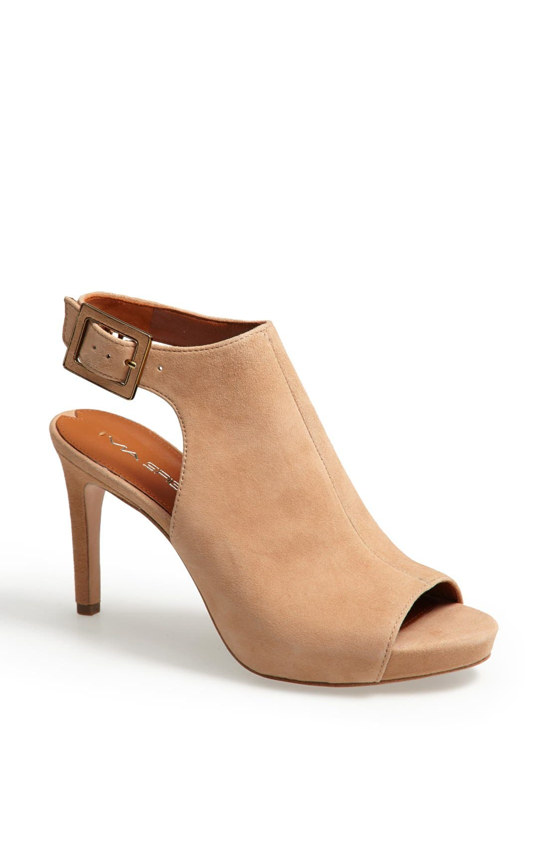 'Nino' Ankle Strap Sandal,                             Main thumbnail 1, color,                             Desert Suede