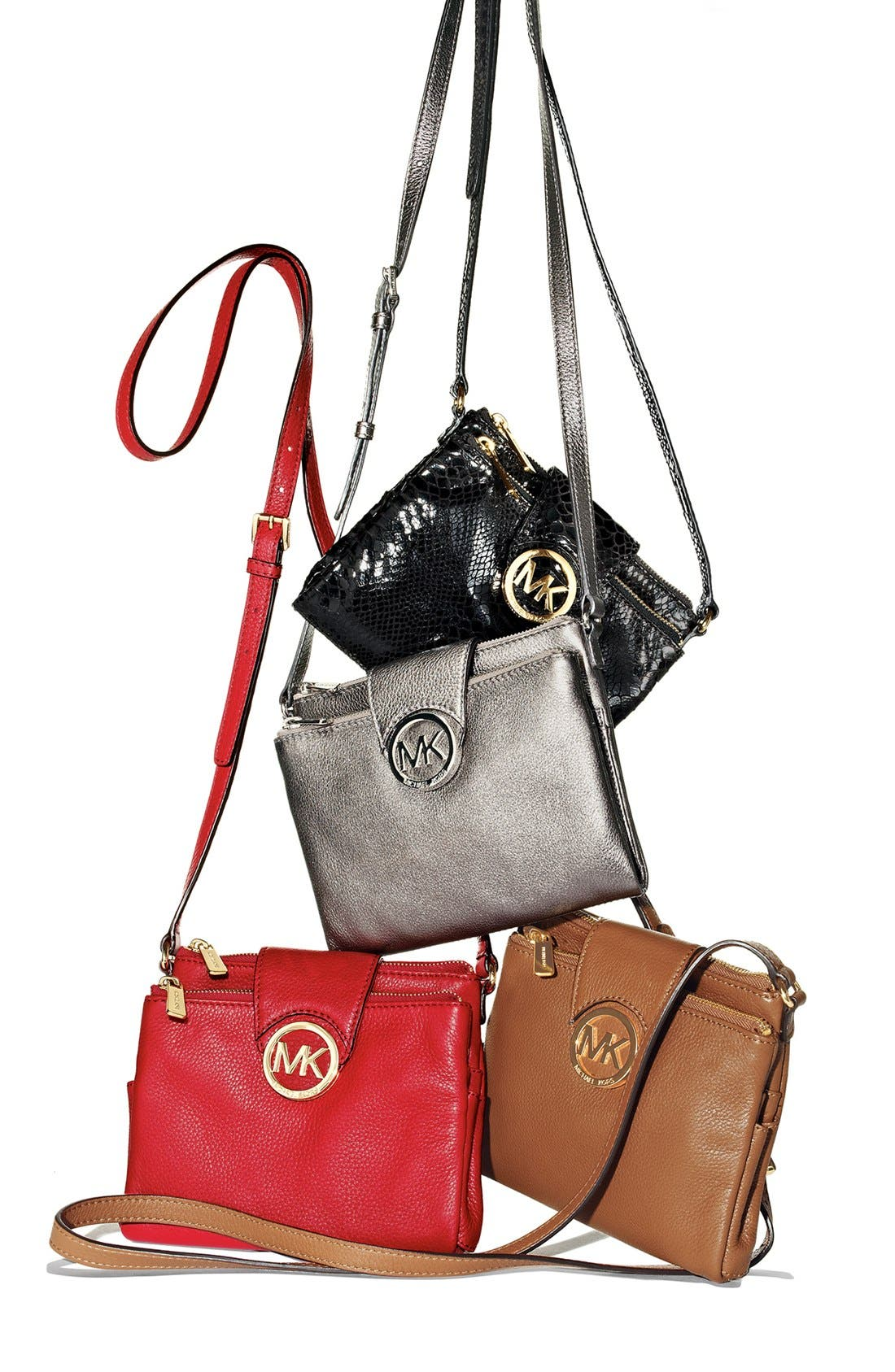 Alternate Image 6  - MICHAEL Michael Kors 'Large Fulton' Embossed Patent Crossbody Bag