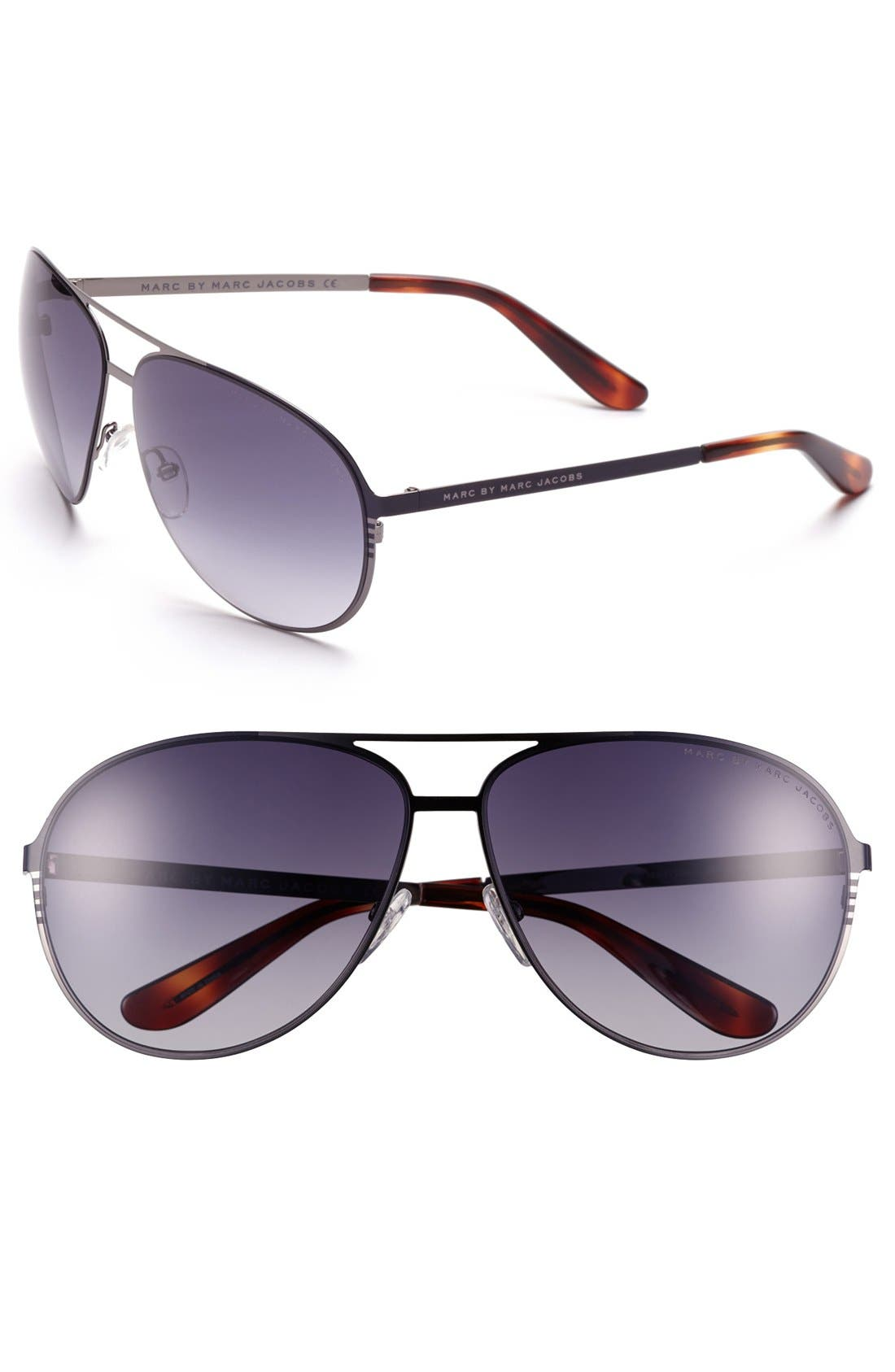 Main Image - MARC BY MARC JACOBS 58mm Aviator Sunglasses