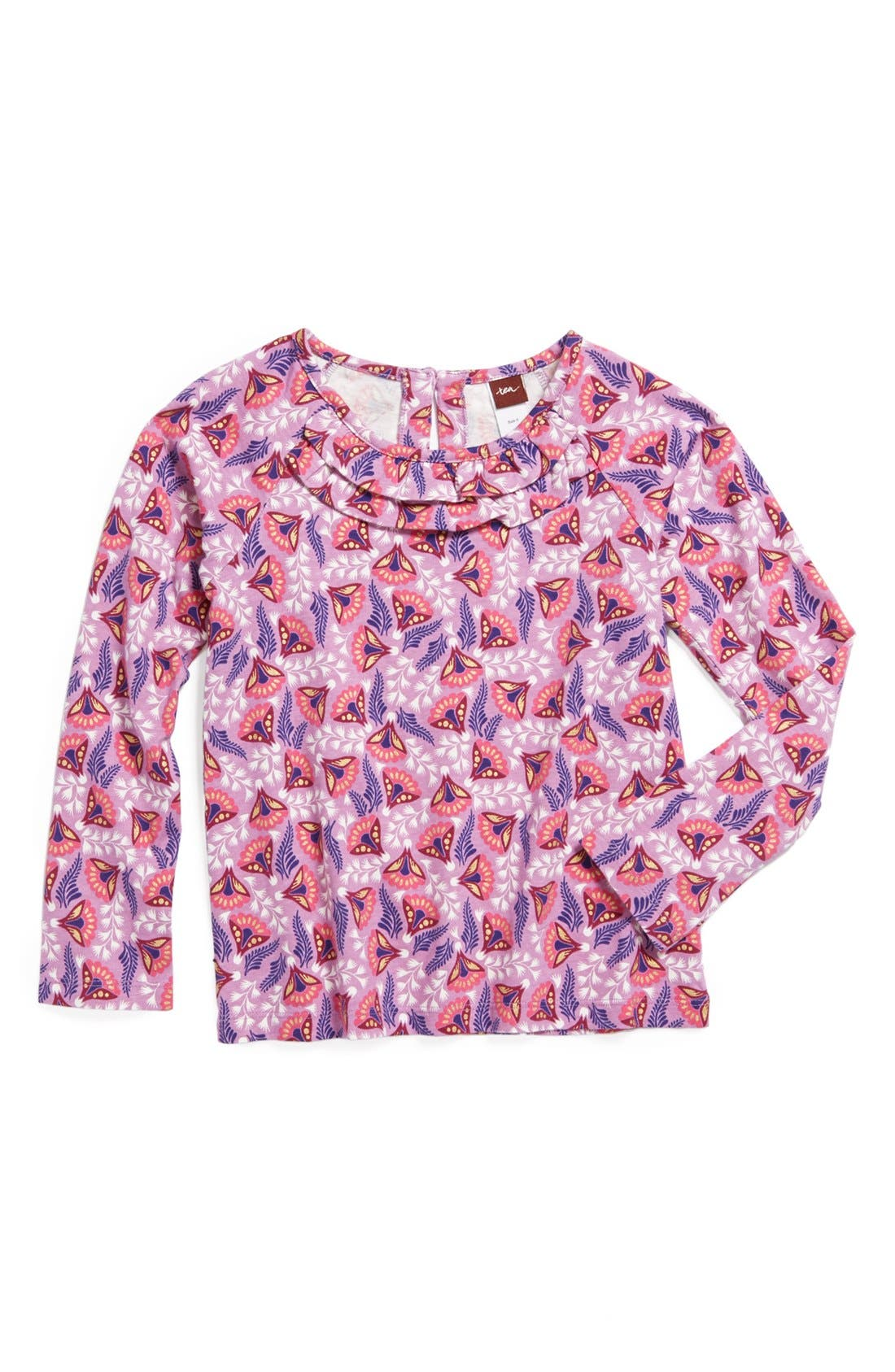 Main Image - Tea Collection 'Sparkle Blossom' Ruffle Top (Toddler Girls, Little Girls & Big Girls)