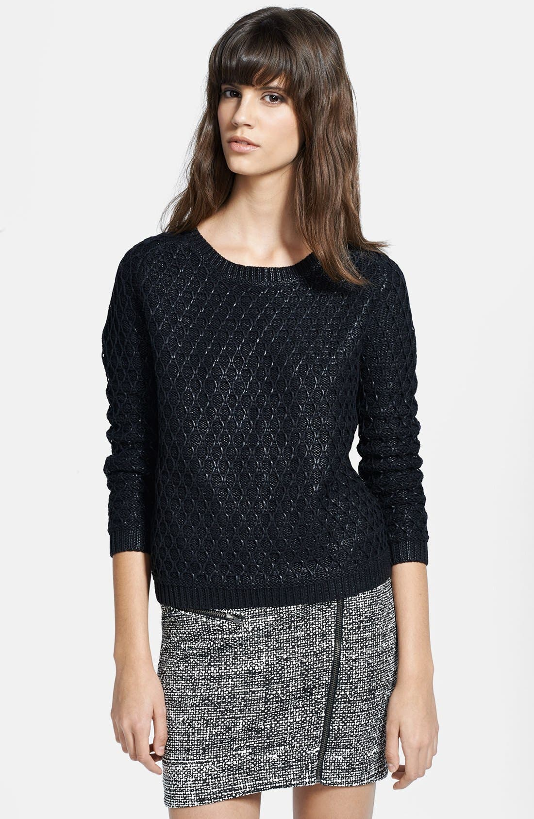 Alternate Image 1 Selected - The Kooples Foiled Textured Sweater