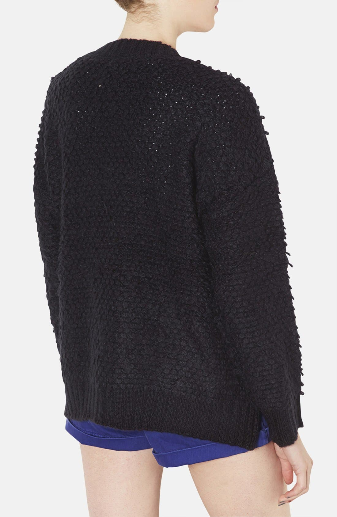 Alternate Image 2  - Topshop 'Hold Loopy' Textured Knit Cardigan